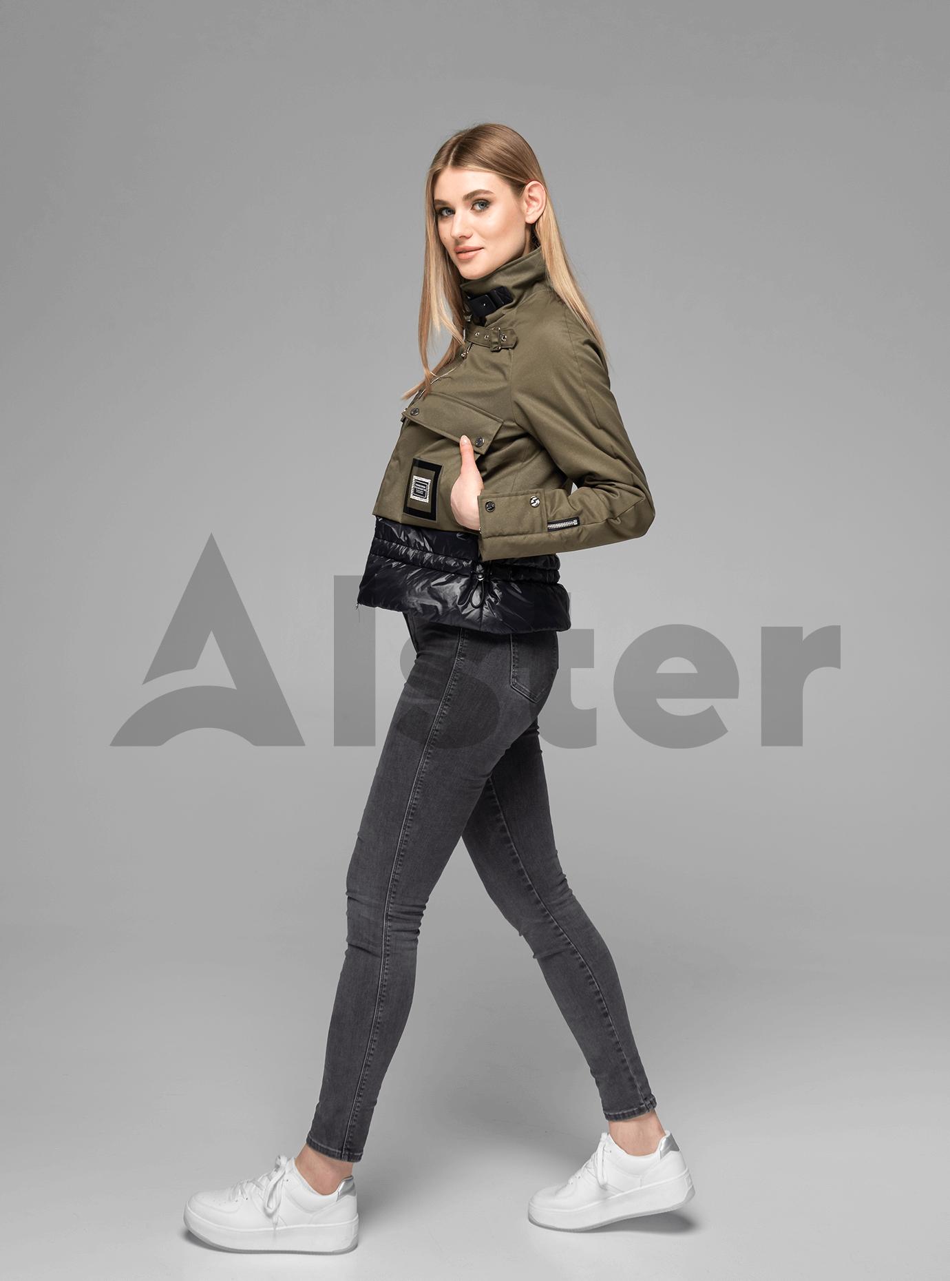Куртка женская короткая с ремешком Хаки M (02-V191007): фото - Alster.ua