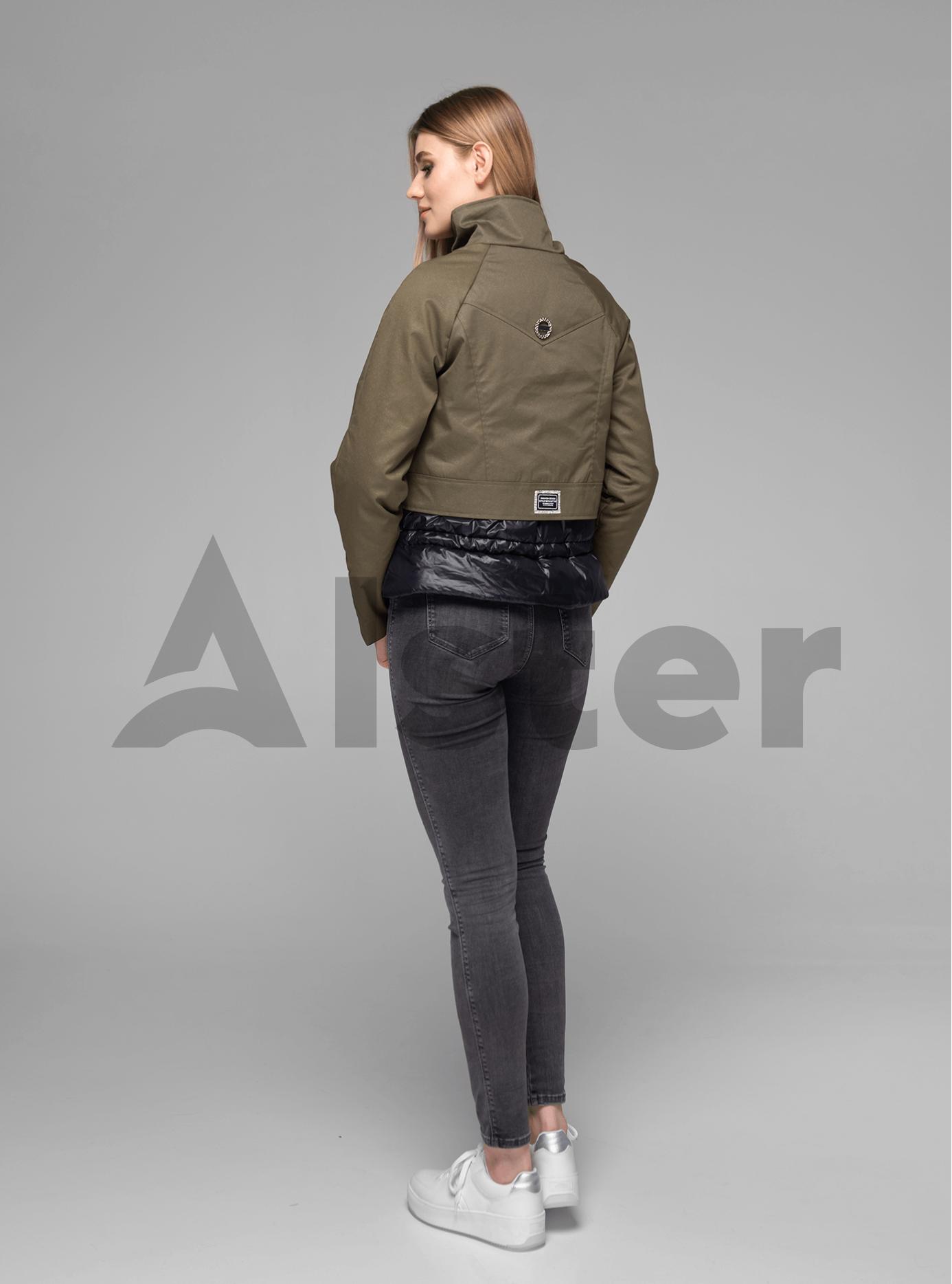Куртка женская короткая с ремешком Хаки XL (02-V191009): фото - Alster.ua