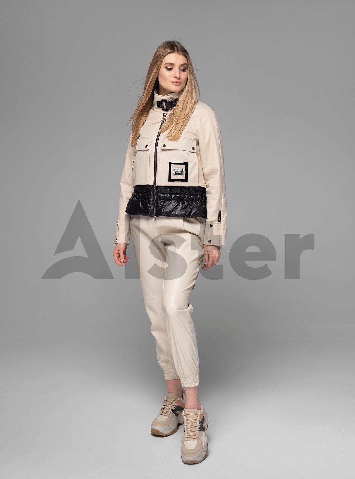 Куртка женская короткая с ремешком Бежевый XL (02-V191013): фото - Alster.ua