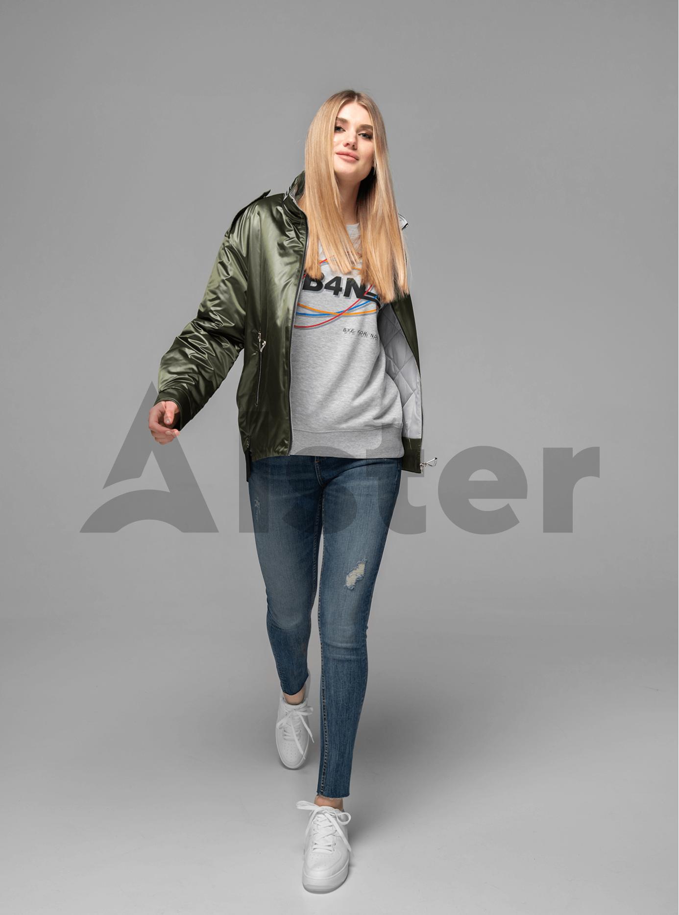 Куртка женская короткая прямая Хаки S (02-V191018): фото - Alster.ua