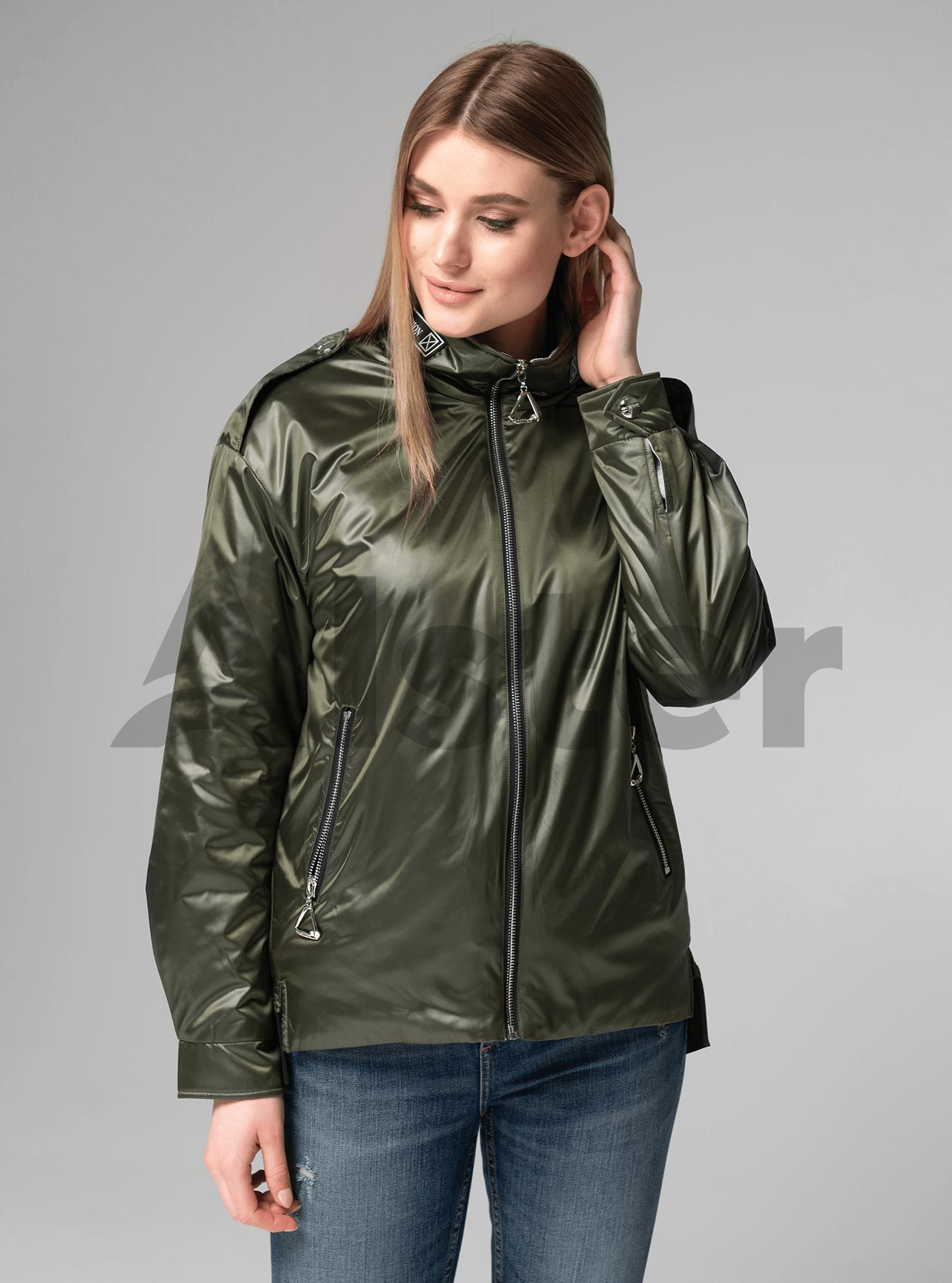 Куртка женская короткая прямая Хаки L (02-V191020): фото - Alster.ua