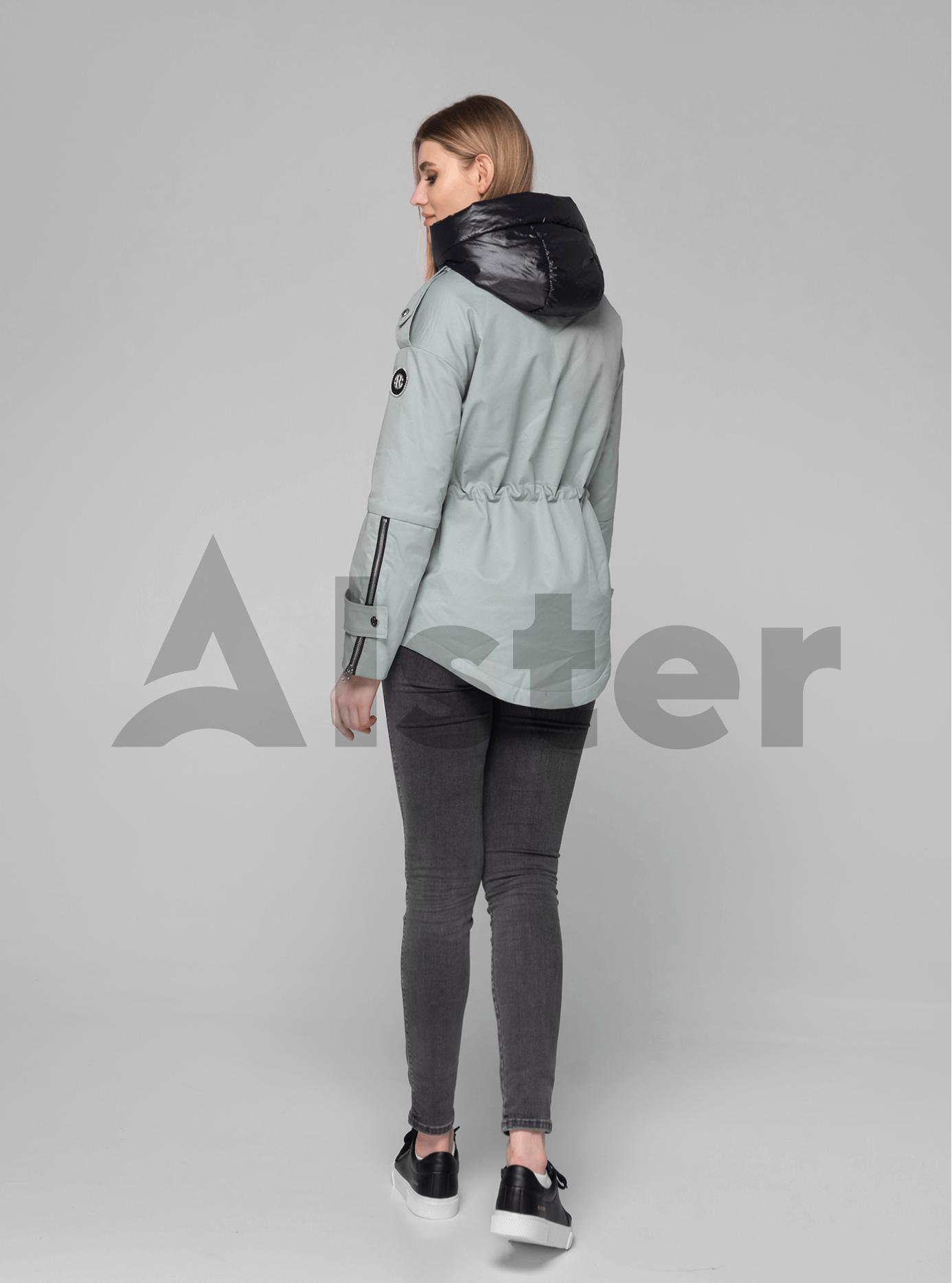Куртка демисезонная короткая с капюшоном Серо-зелёный XL (02-V191049): фото - Alster.ua