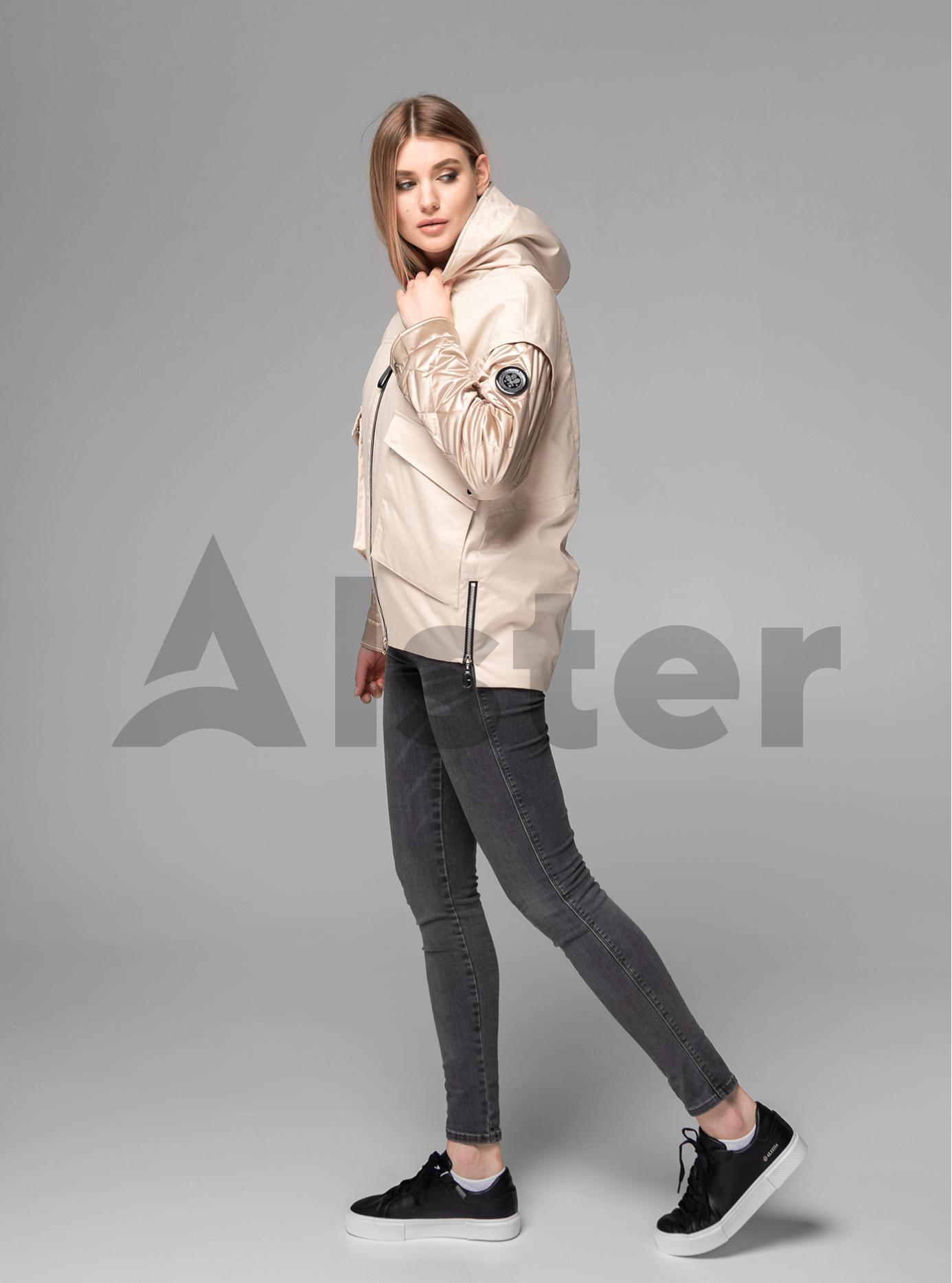 Куртка демисезонная короткая на молнии Бежевый L (02-V191052): фото - Alster.ua
