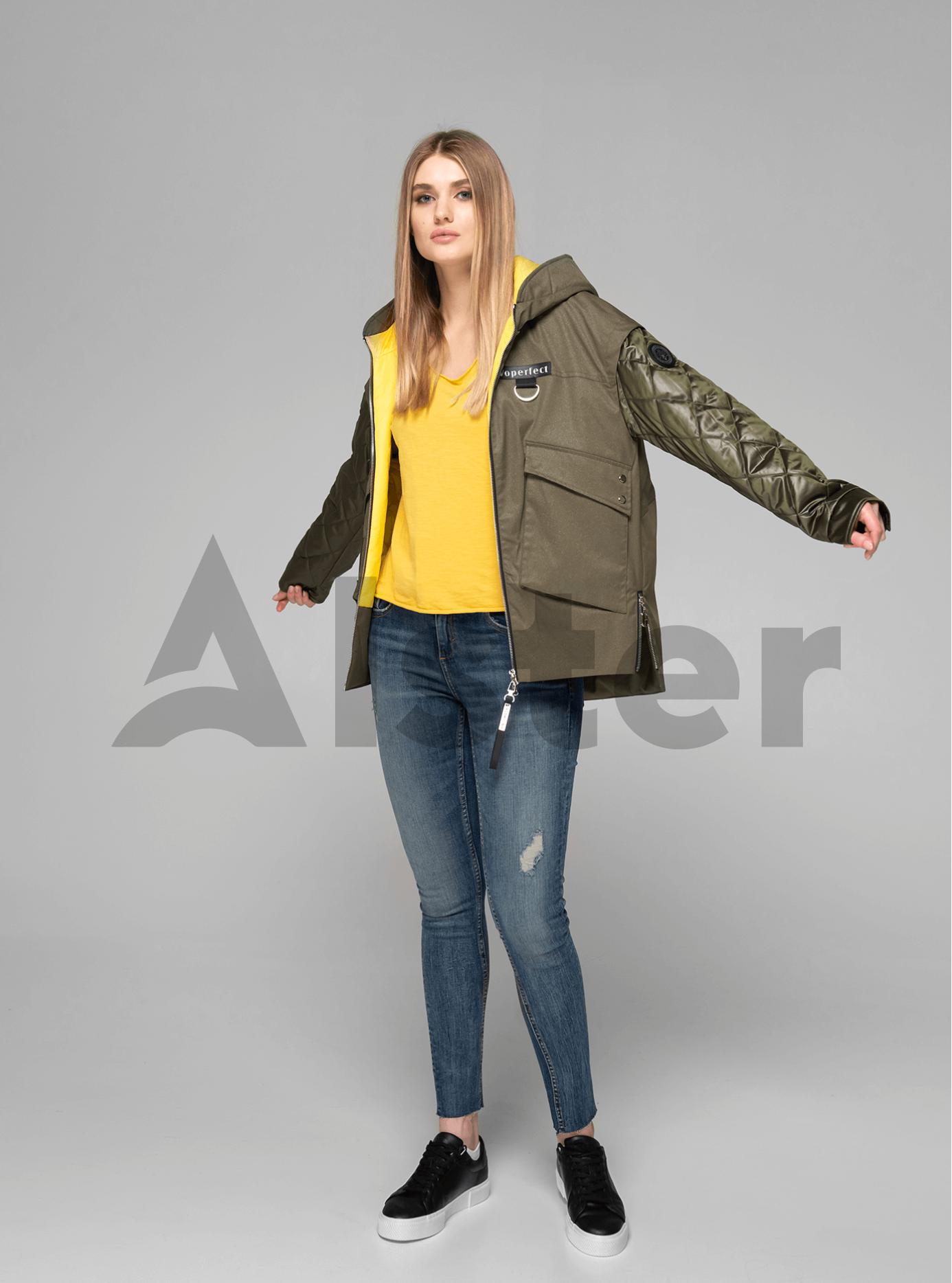 Куртка демисезонная короткая на молнии Хаки S (02-V191058): фото - Alster.ua