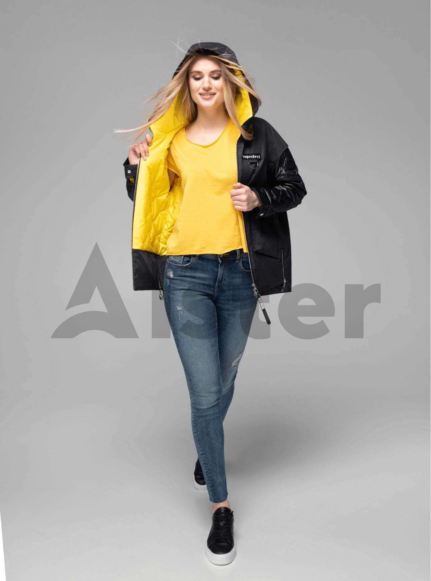 Куртка демисезонная короткая на молнии Чёрный S (02-V191054): фото - Alster.ua