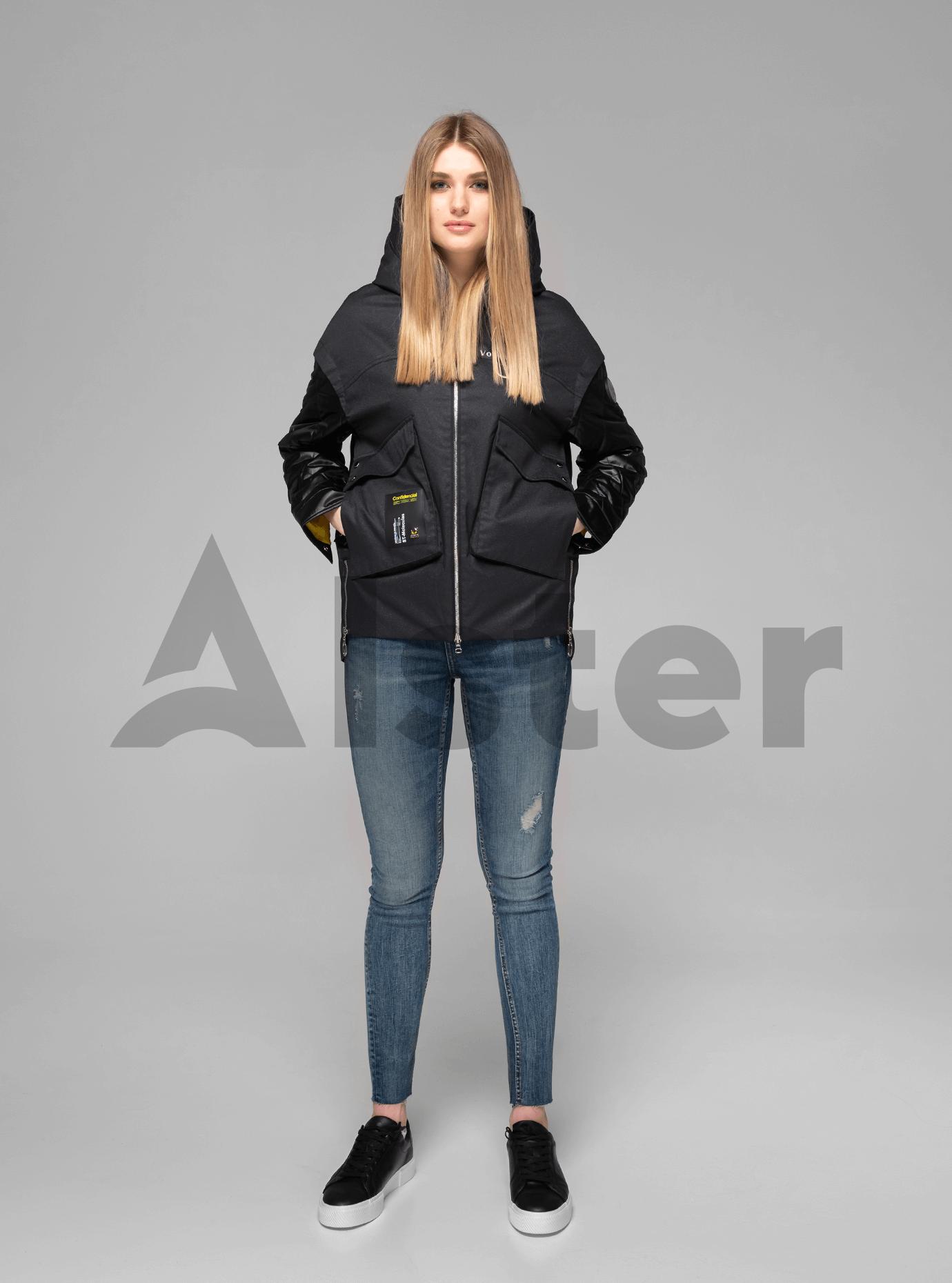Куртка демисезонная короткая на молнии Чёрный M (02-V191055): фото - Alster.ua