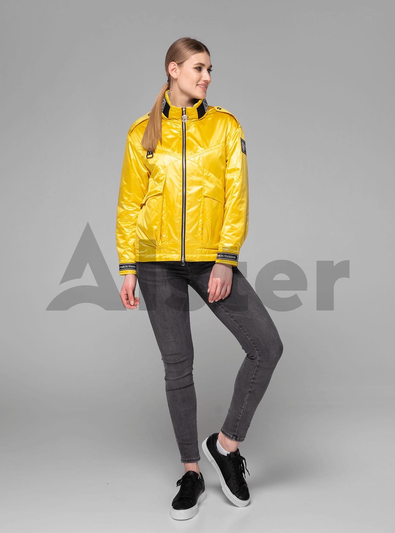 Куртка демисезонная короткая с накладными карманами Жёлтый S (02-V191066): фото - Alster.ua