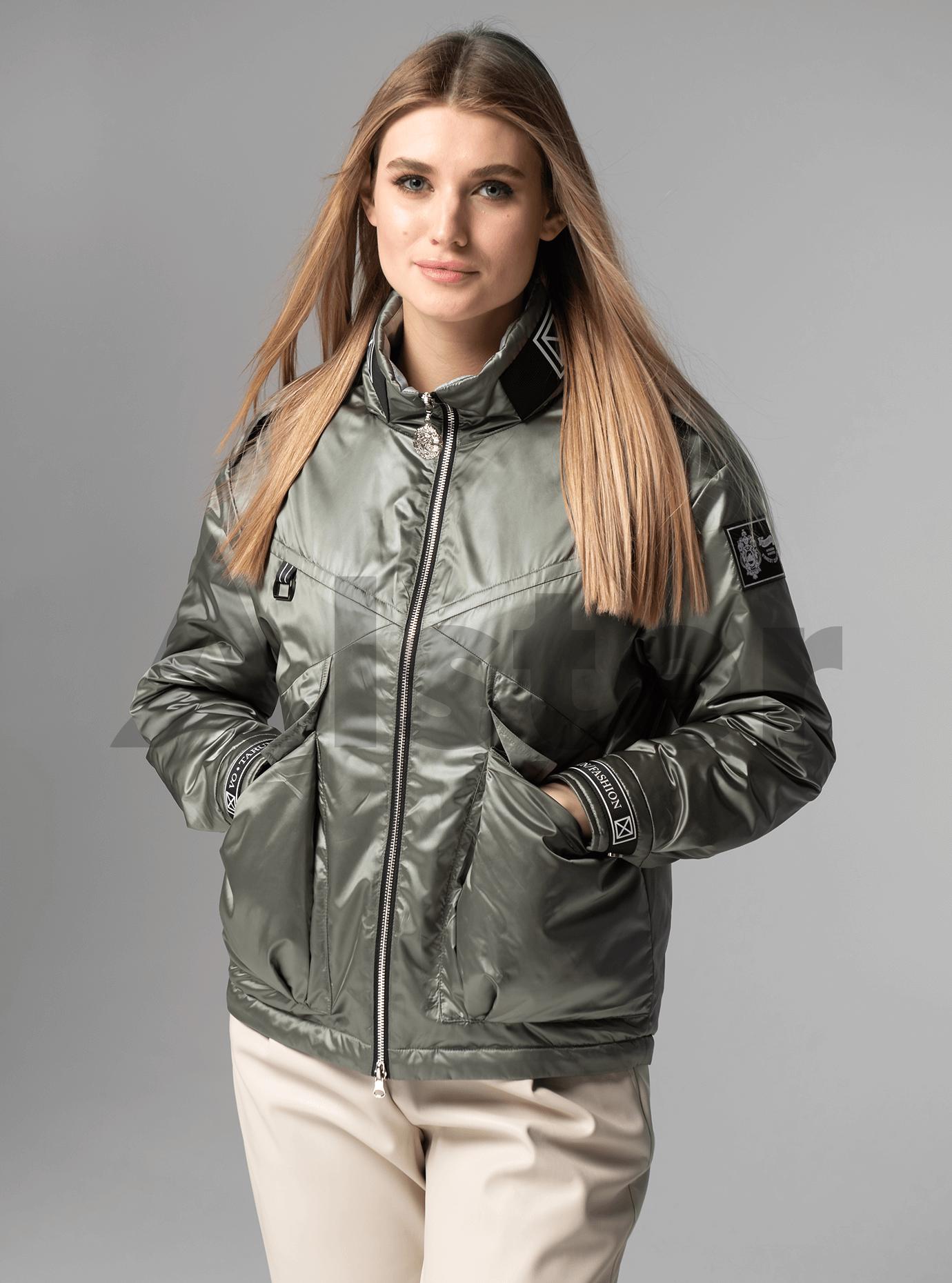 Куртка демисезонная короткая с накладными карманами Серый XL (02-V191073): фото - Alster.ua