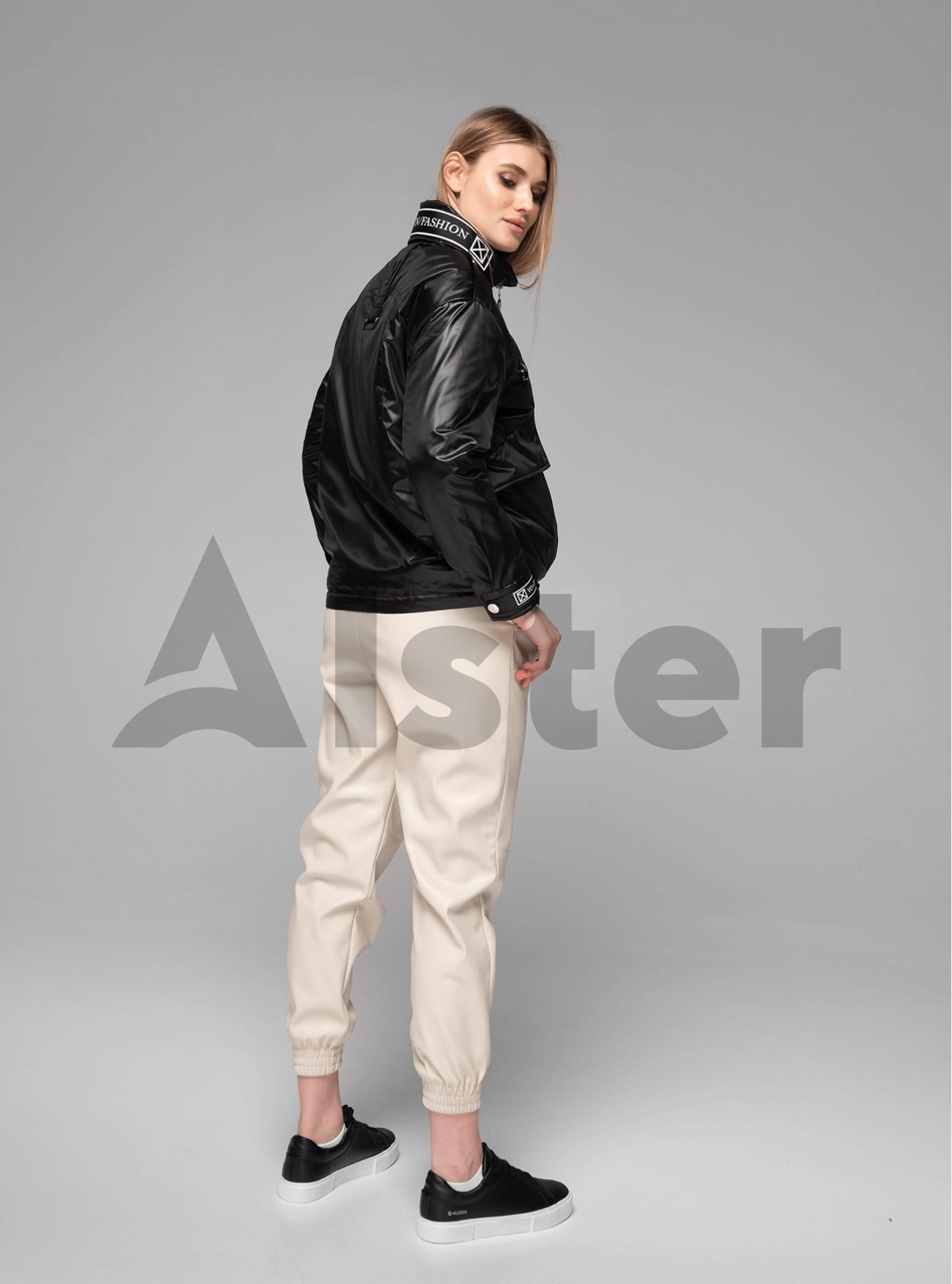Куртка демисезонная короткая с накладными карманами Чёрный XL (02-V191065): фото - Alster.ua