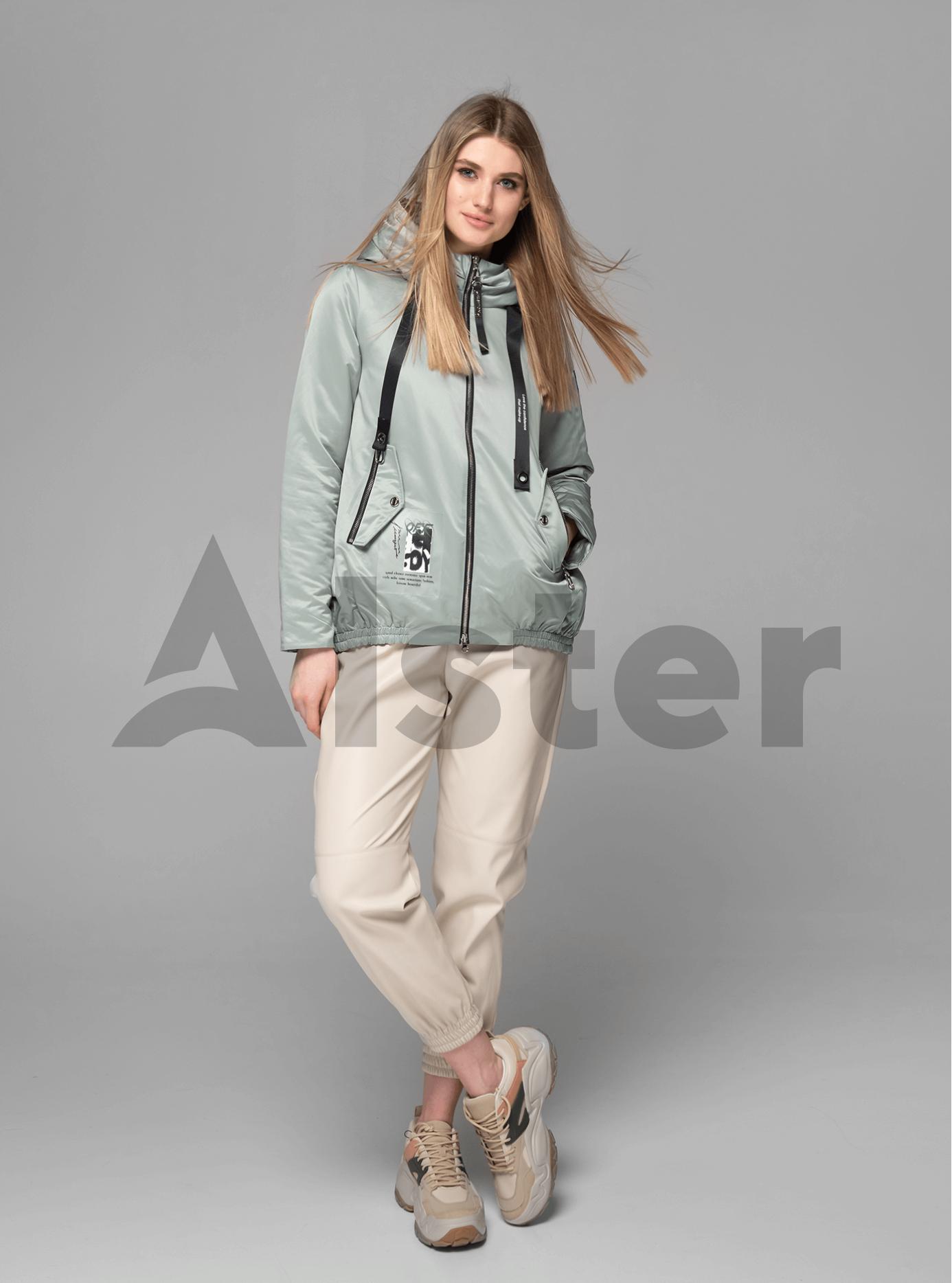 Куртка демисезонная короткая с разрезом на спине Серо-зелёный L (02-V191076): фото - Alster.ua