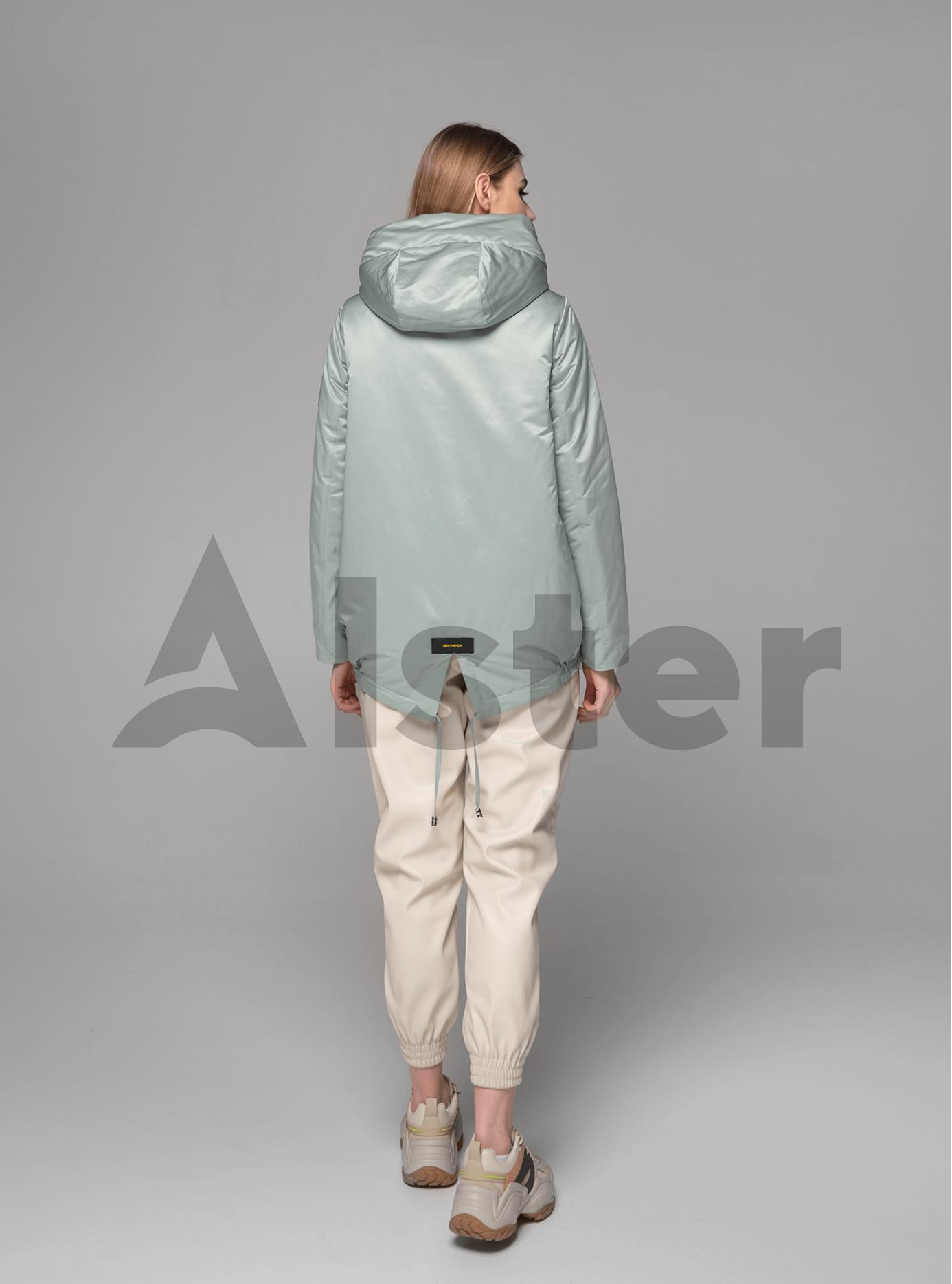 Куртка демисезонная короткая с разрезом на спине Серо-зелёный M (02-V191075): фото - Alster.ua