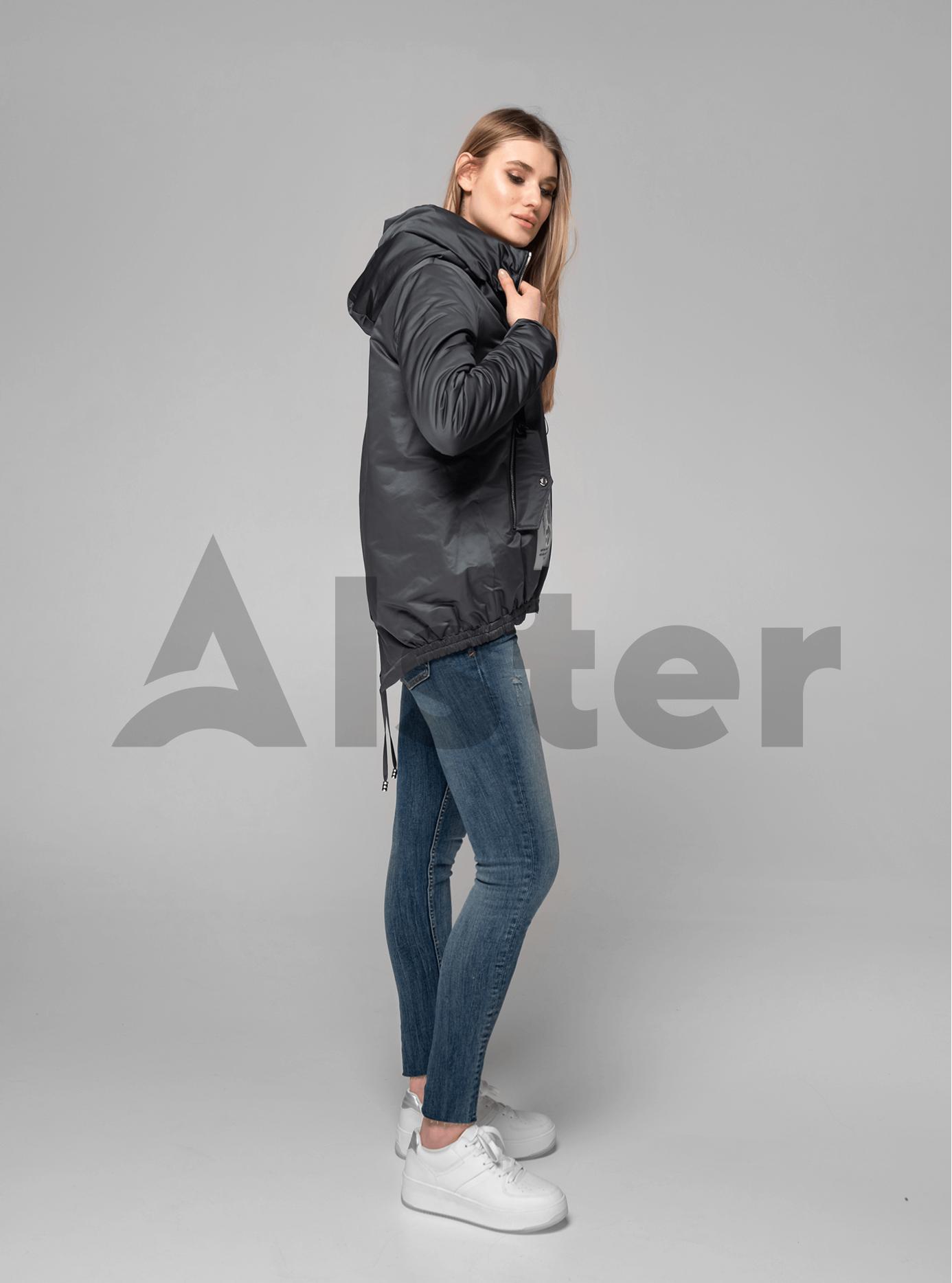 Куртка демисезонная короткая с разрезом на спине Тёмно-серый M (02-V191079): фото - Alster.ua