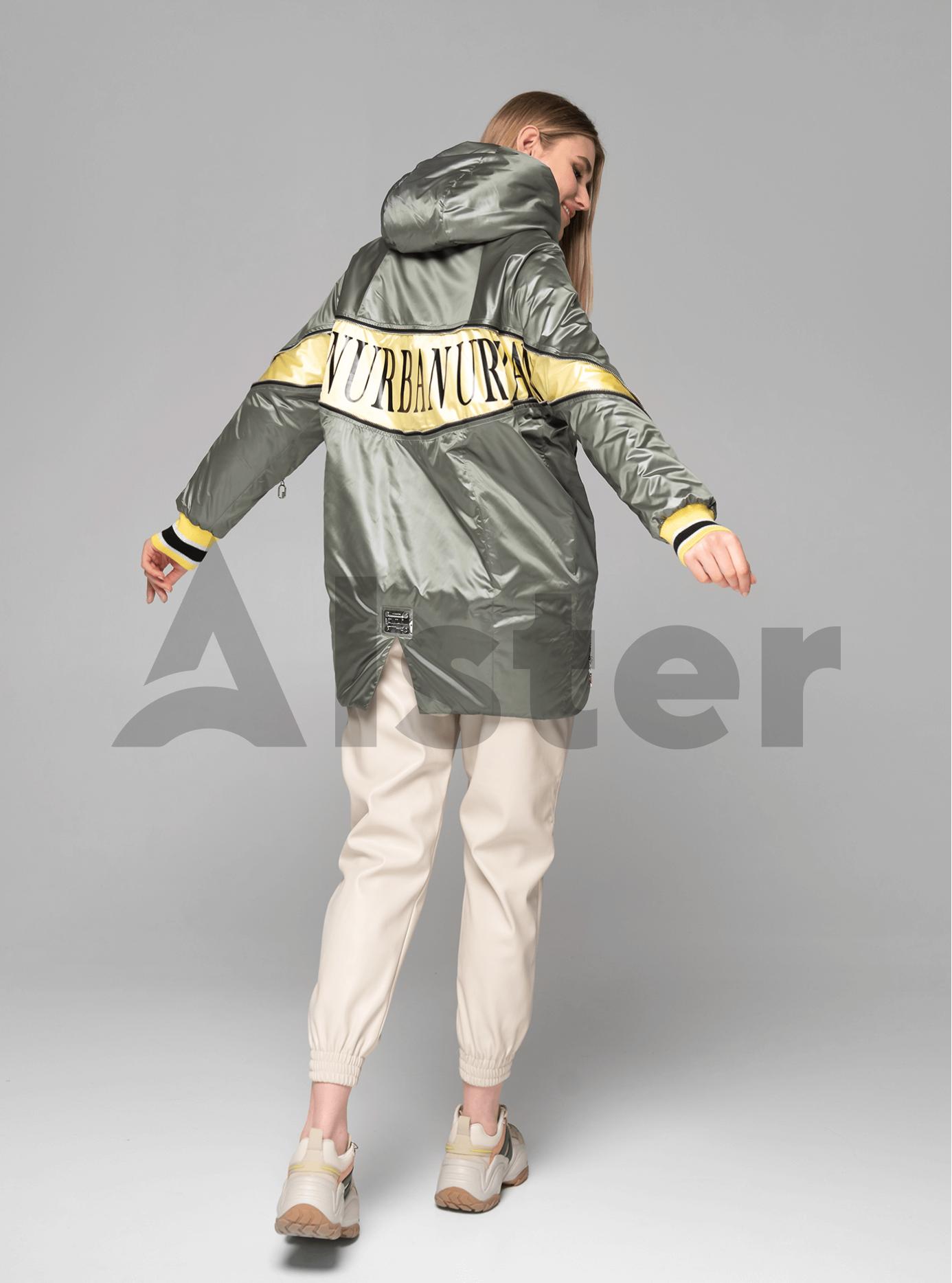 Куртка демисезонная средней длины с манжетами Оливковый L (02-V191088): фото - Alster.ua