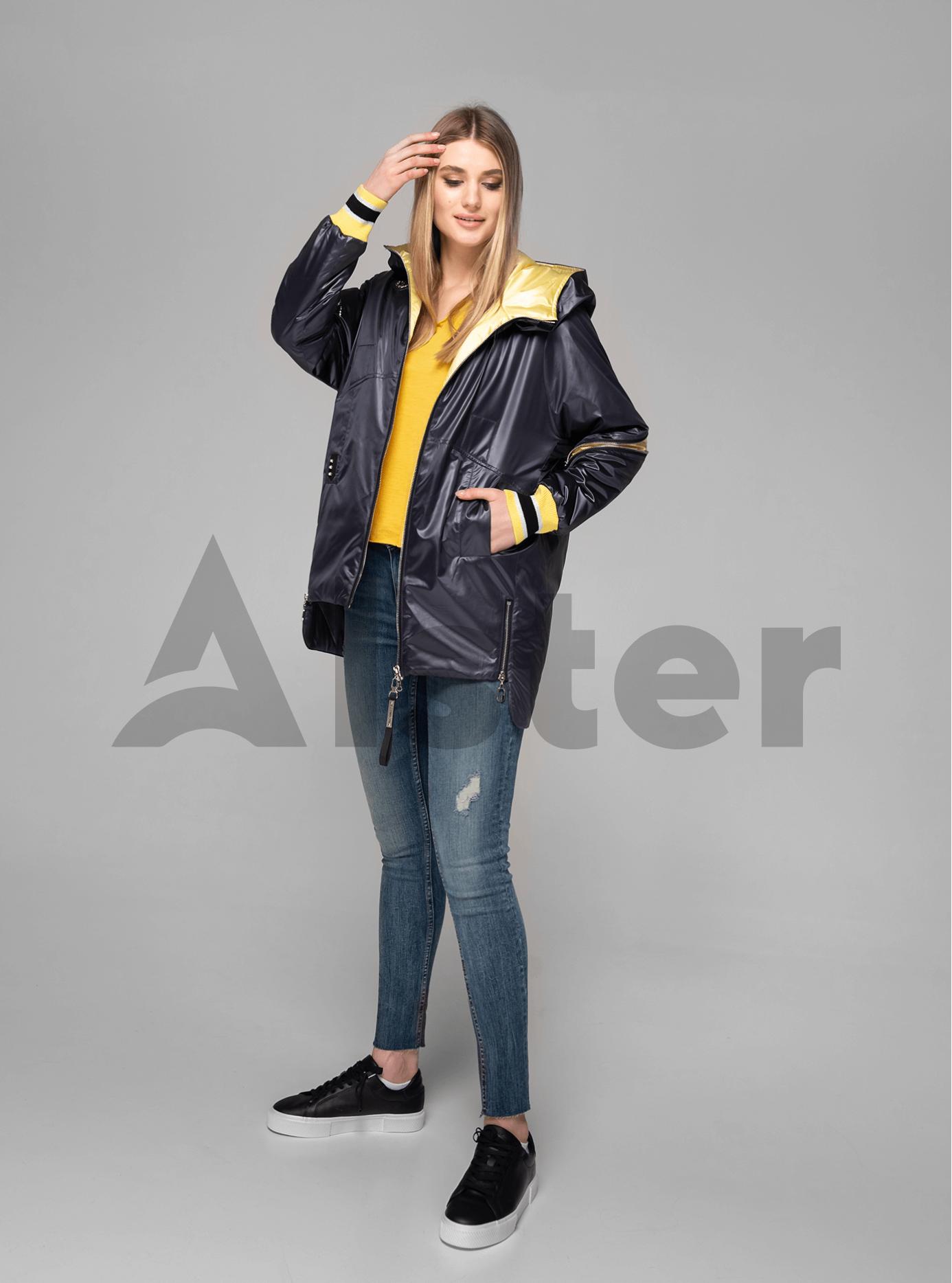 Куртка демисезонная средней длины с манжетами Графитовый S (02-V191082): фото - Alster.ua