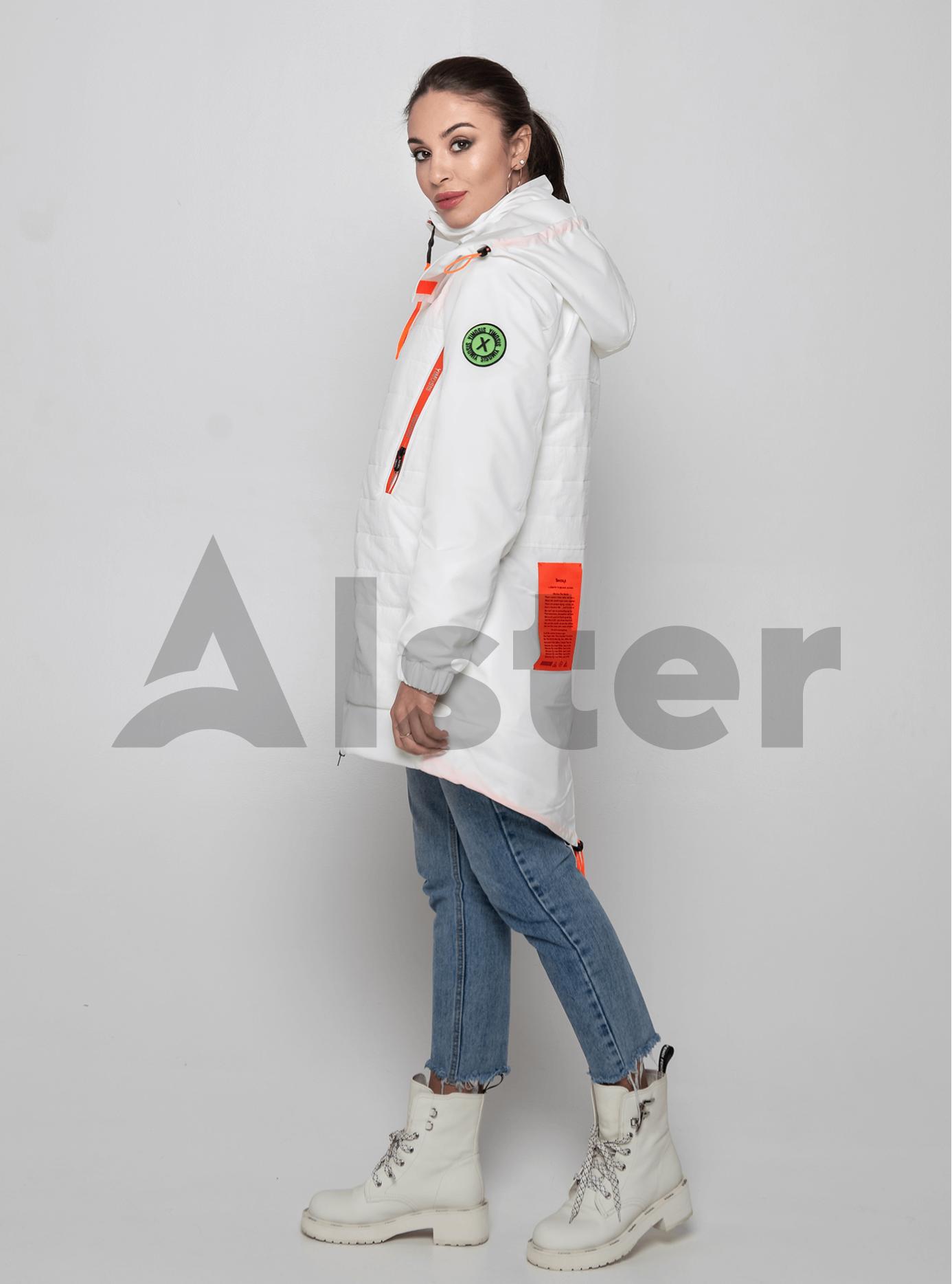 Куртка демисезонная средней длины Белый M (02-Y191009): фото - Alster.ua