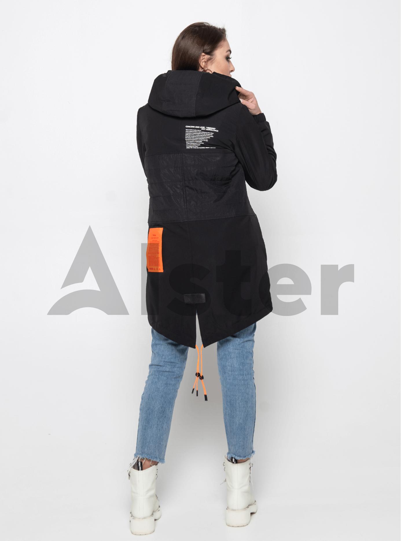 Куртка демисезонная средней длины Чёрный S (02-Y191011): фото - Alster.ua