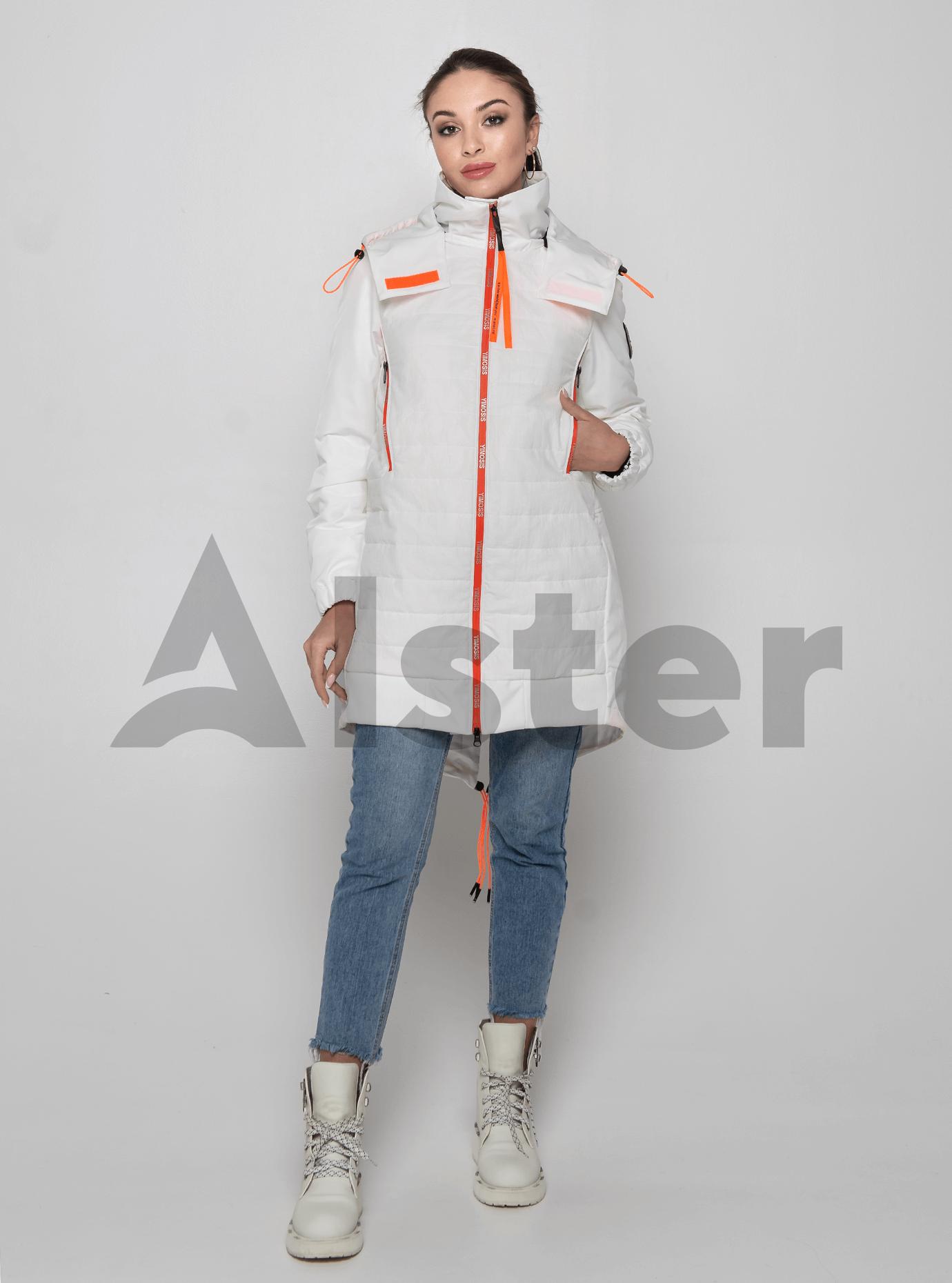 Куртка демисезонная средней длины Белый S (02-Y191008): фото - Alster.ua
