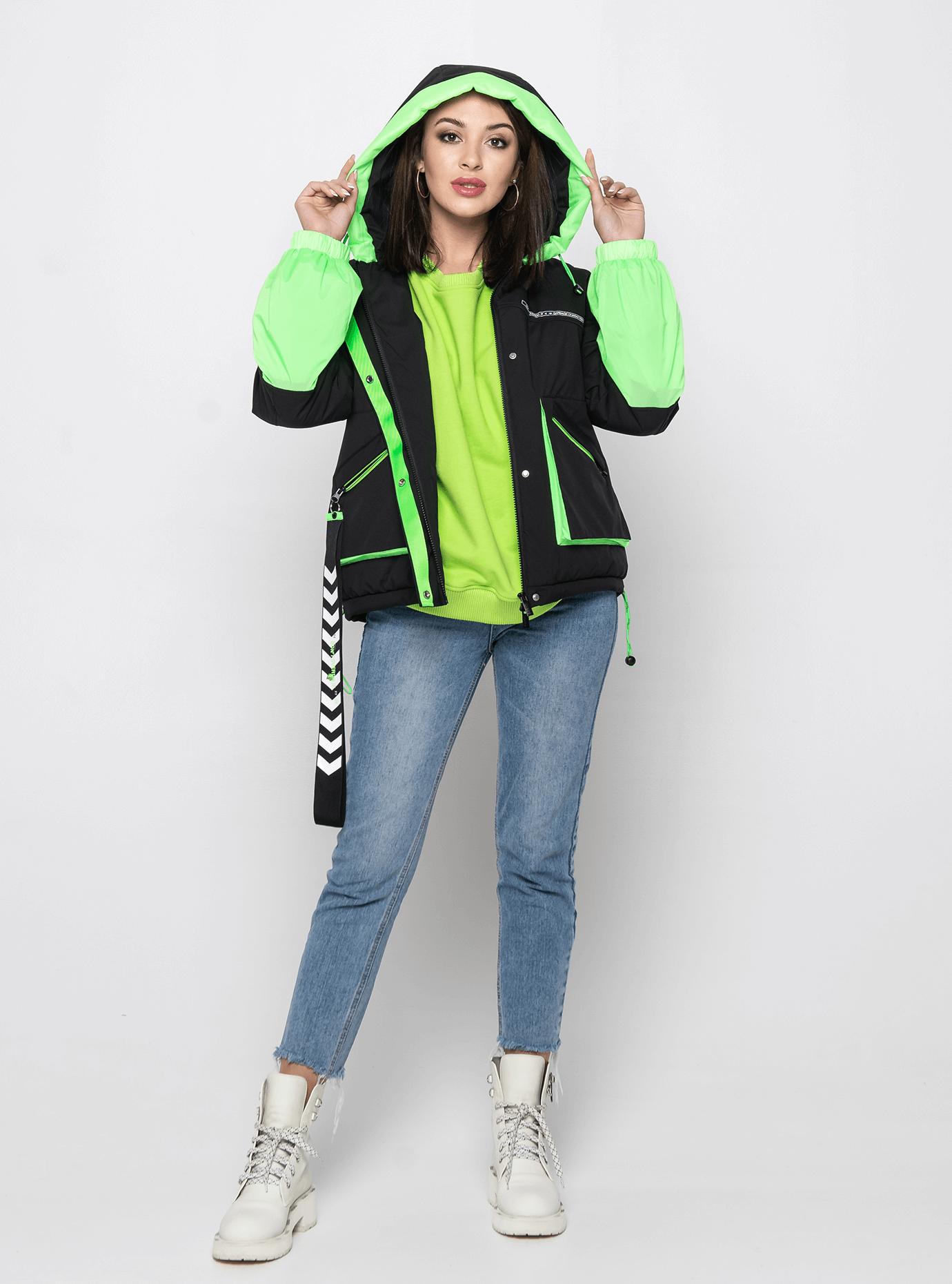 Куртка демисезонная короткая Зелёный M (02-Y191018): фото - Alster.ua