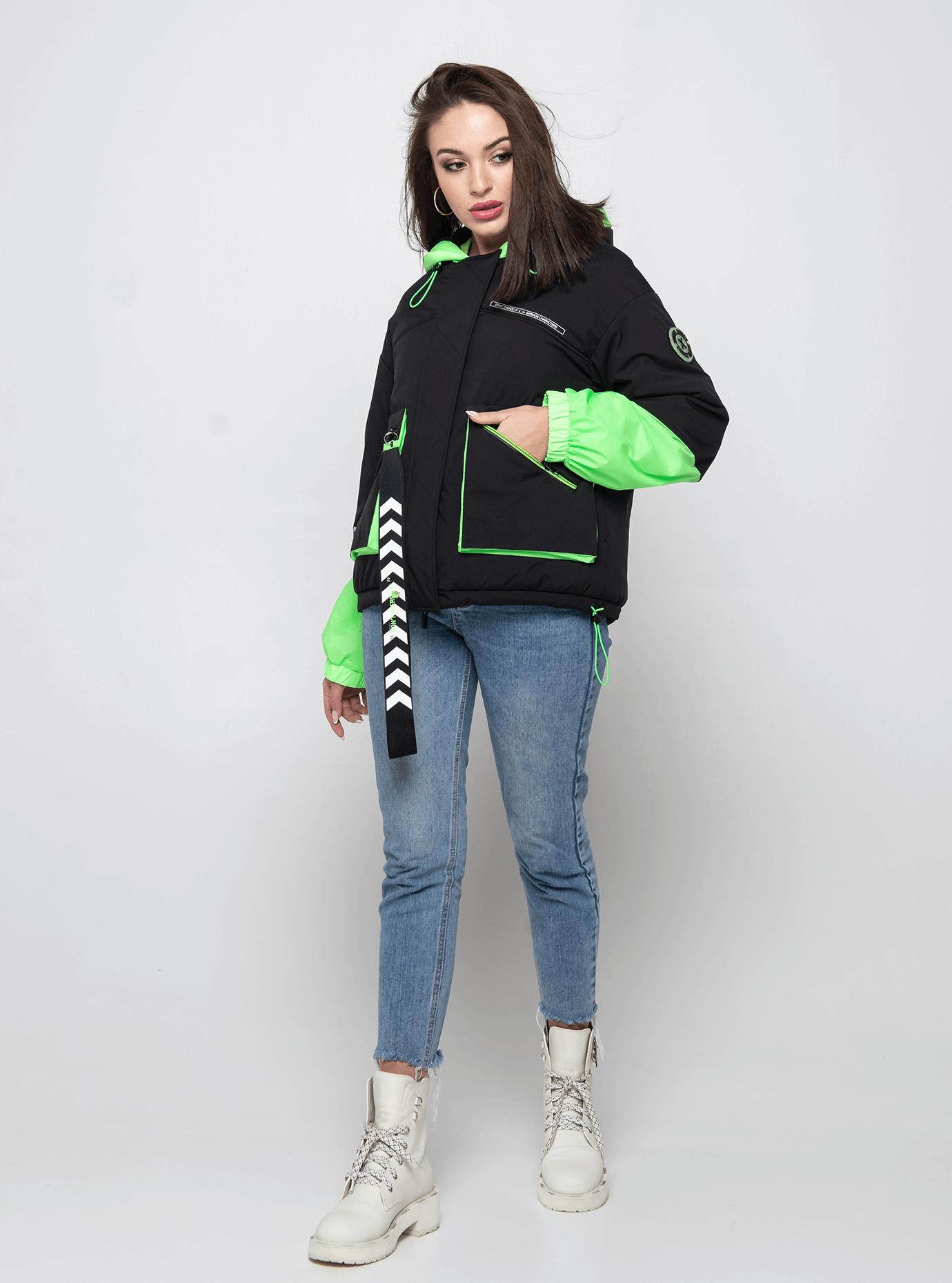 Куртка демисезонная короткая Зелёный S (02-Y191017): фото - Alster.ua