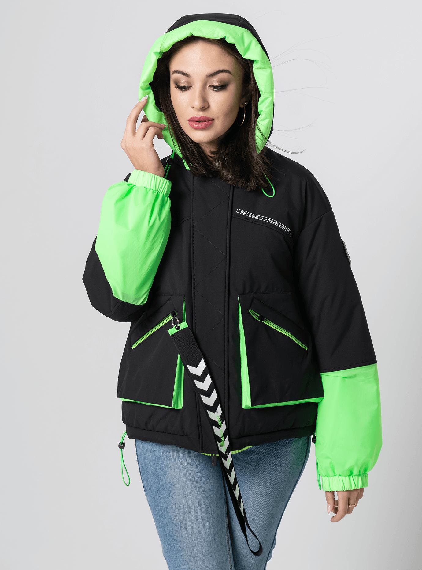 Куртка демисезонная короткая Зелёный L (02-Y191019): фото - Alster.ua