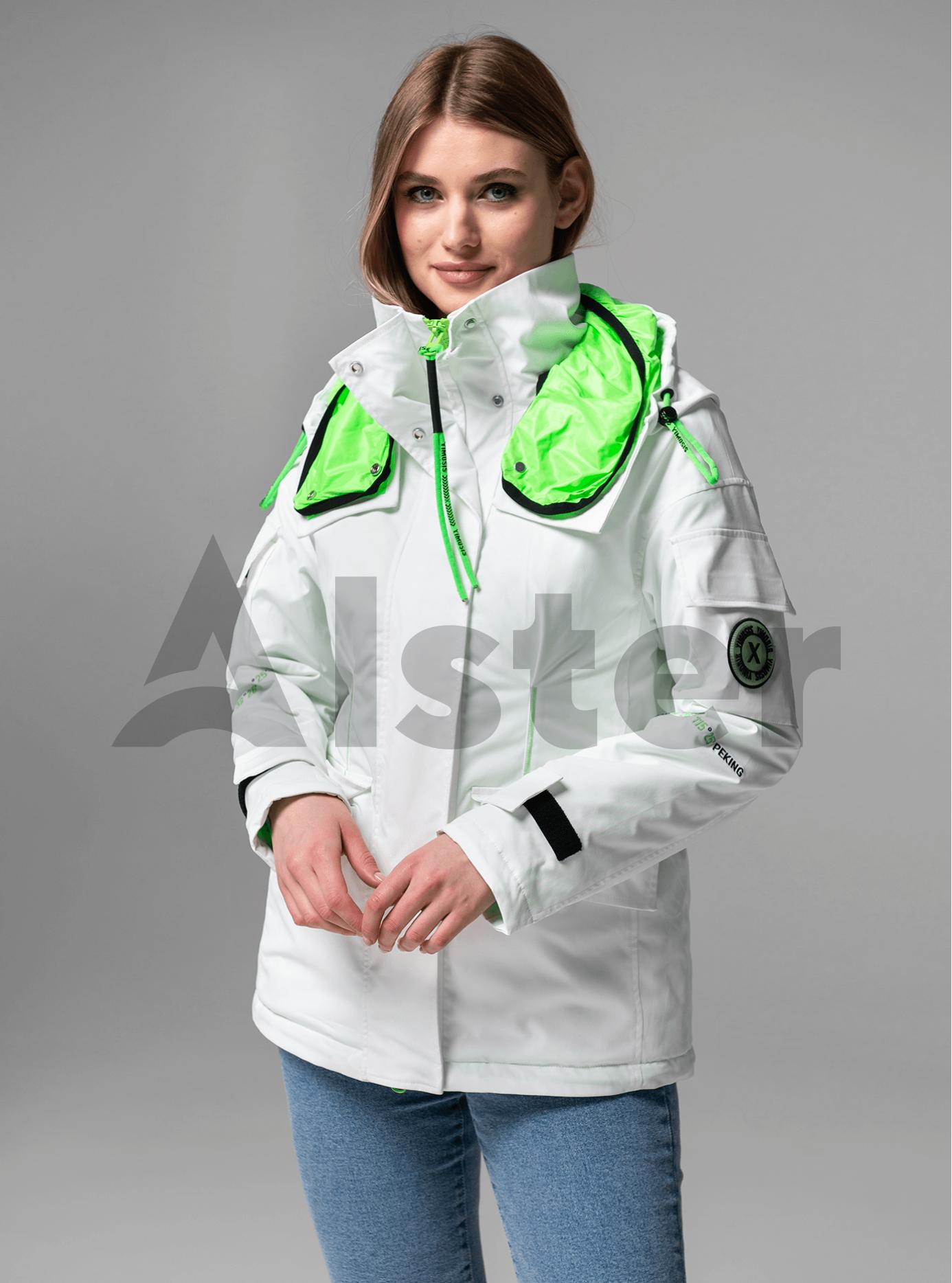 Куртка демисезонная с высоким воротником Белый S (02-Y191020): фото - Alster.ua