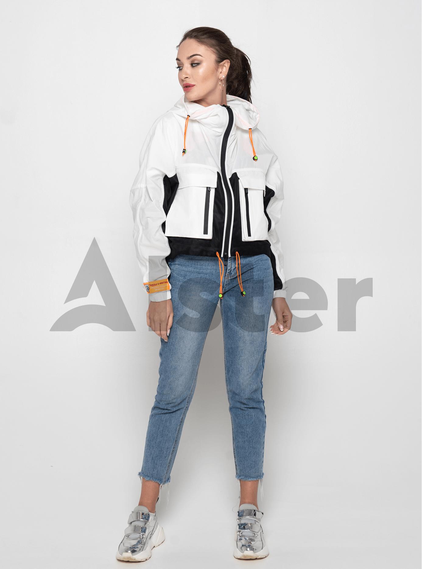 Куртка демисезонная с накладными карманами Белый L (02-Y191028): фото - Alster.ua