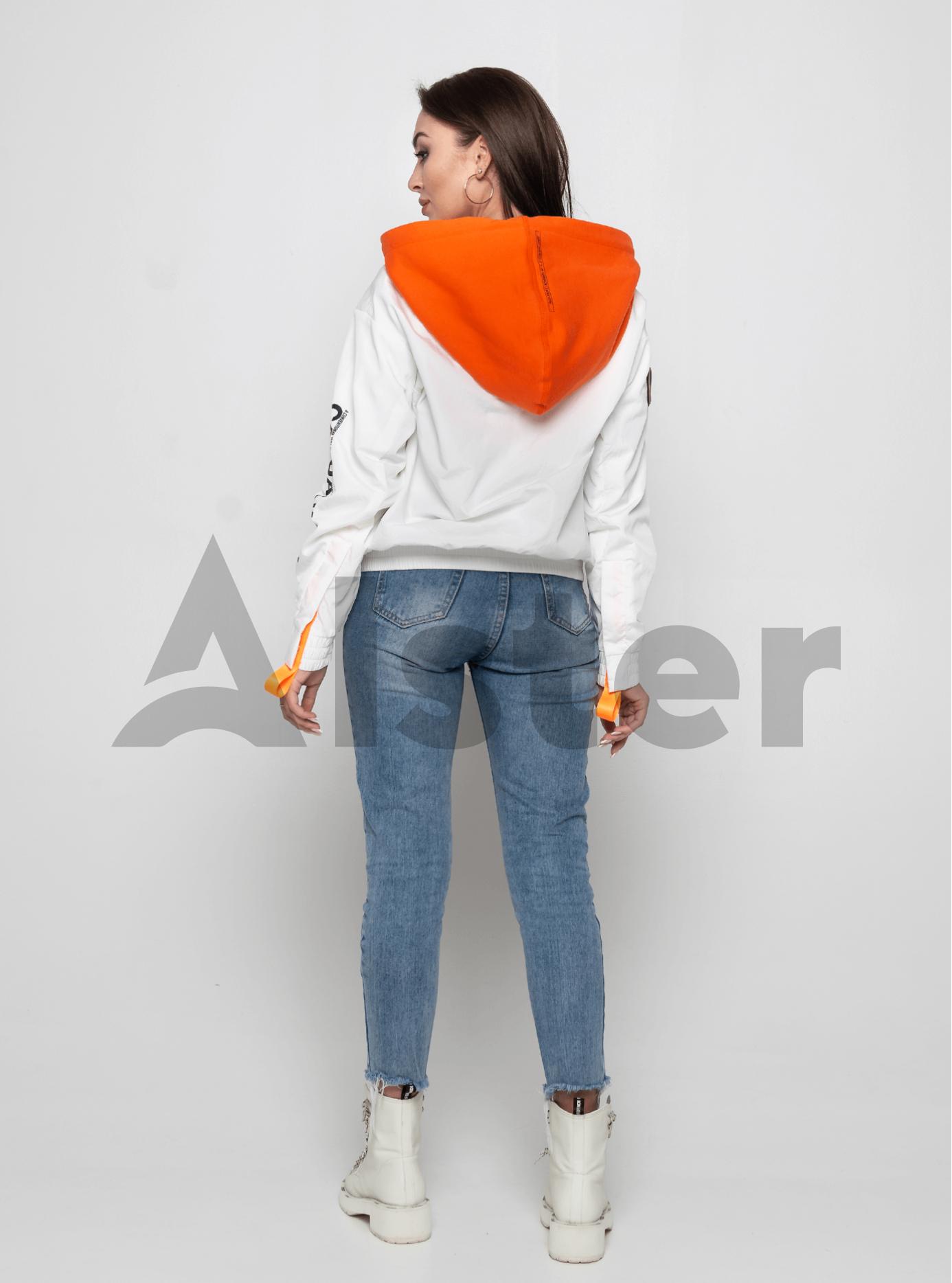 Куртка демисезонная с ярким капюшоном Белый M (02-Y191036): фото - Alster.ua