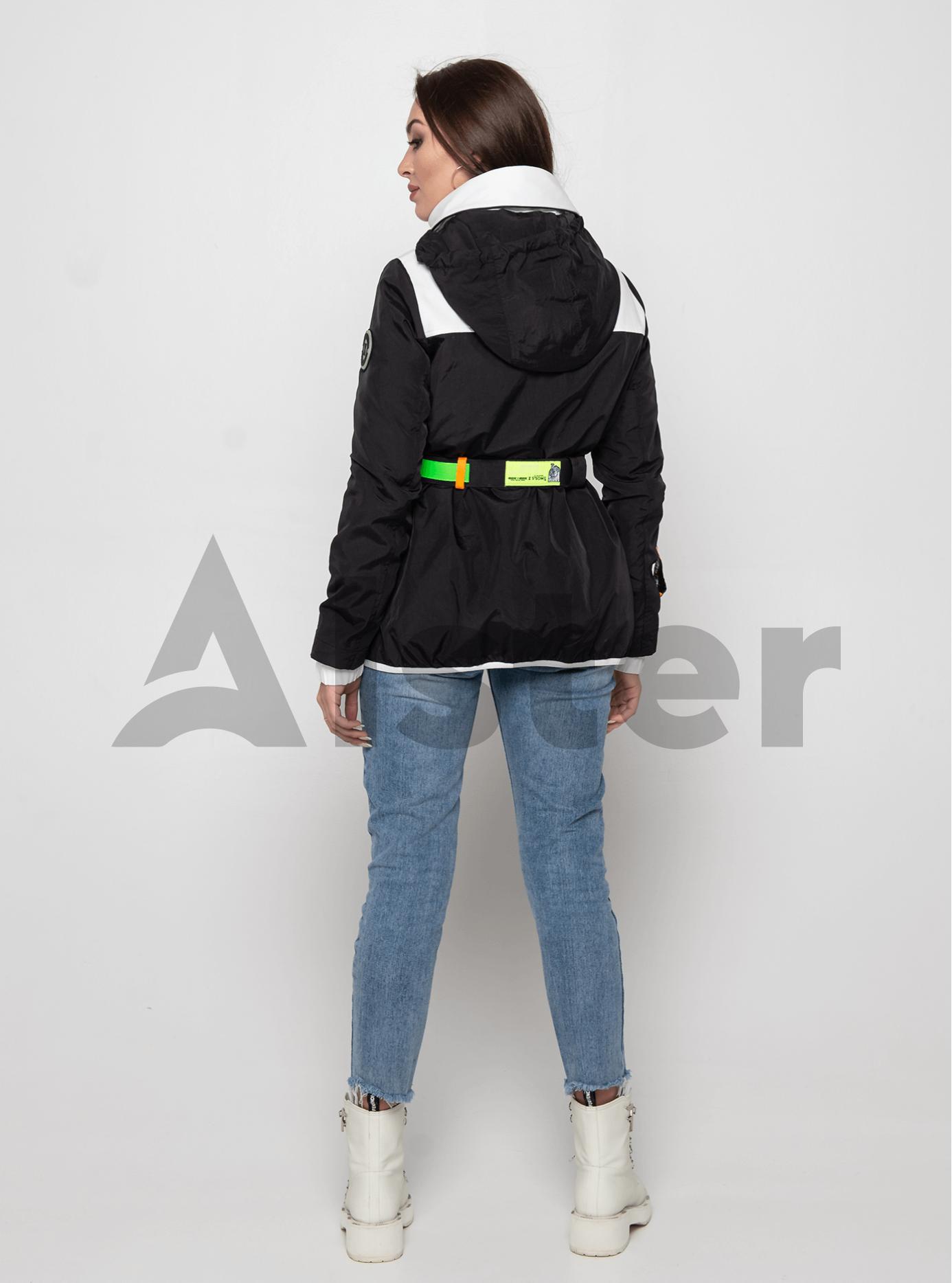 Куртка демисезонная с поясом Чёрный S (02-Y191041): фото - Alster.ua