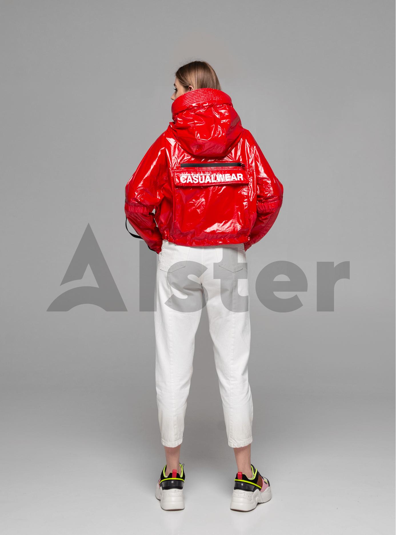 Куртка демисезонная лаковая Красный S (02-Y191044): фото - Alster.ua