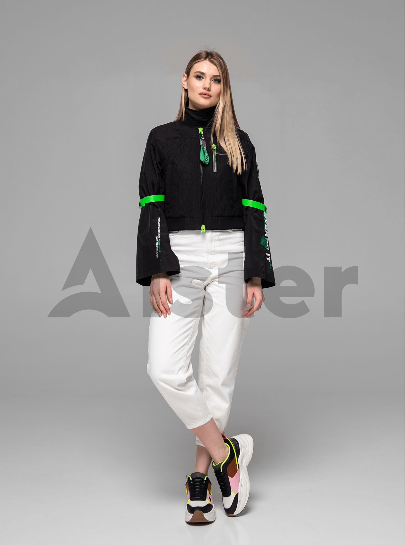 Куртка женская бомбер Чёрный L (02-Y191058): фото - Alster.ua