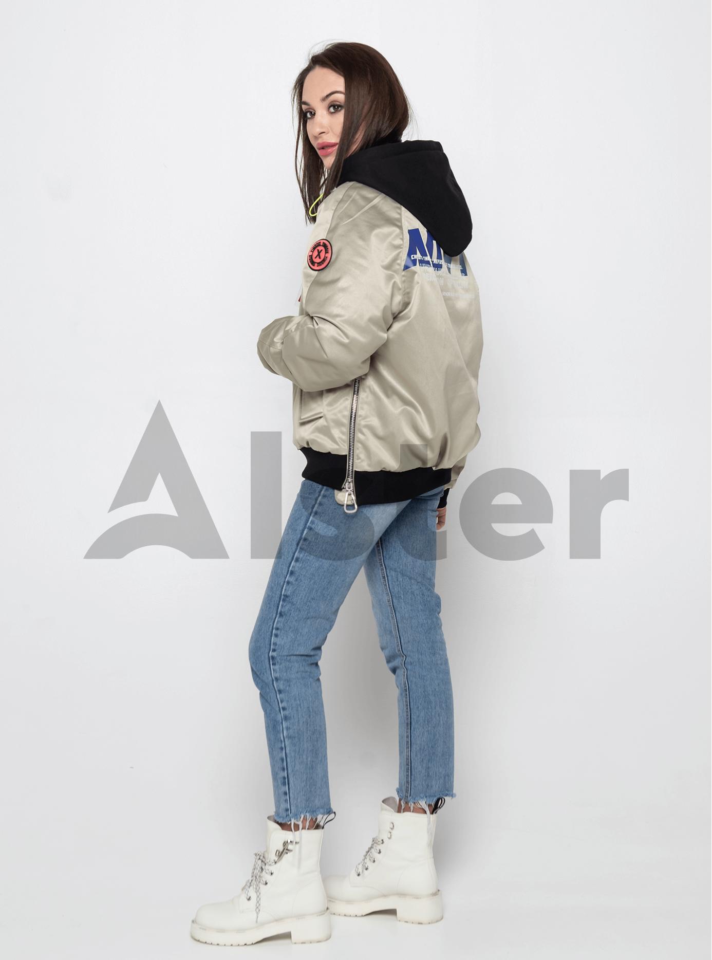 Куртка демисезонная с боковыми молниями Серый M (02-Y191063): фото - Alster.ua