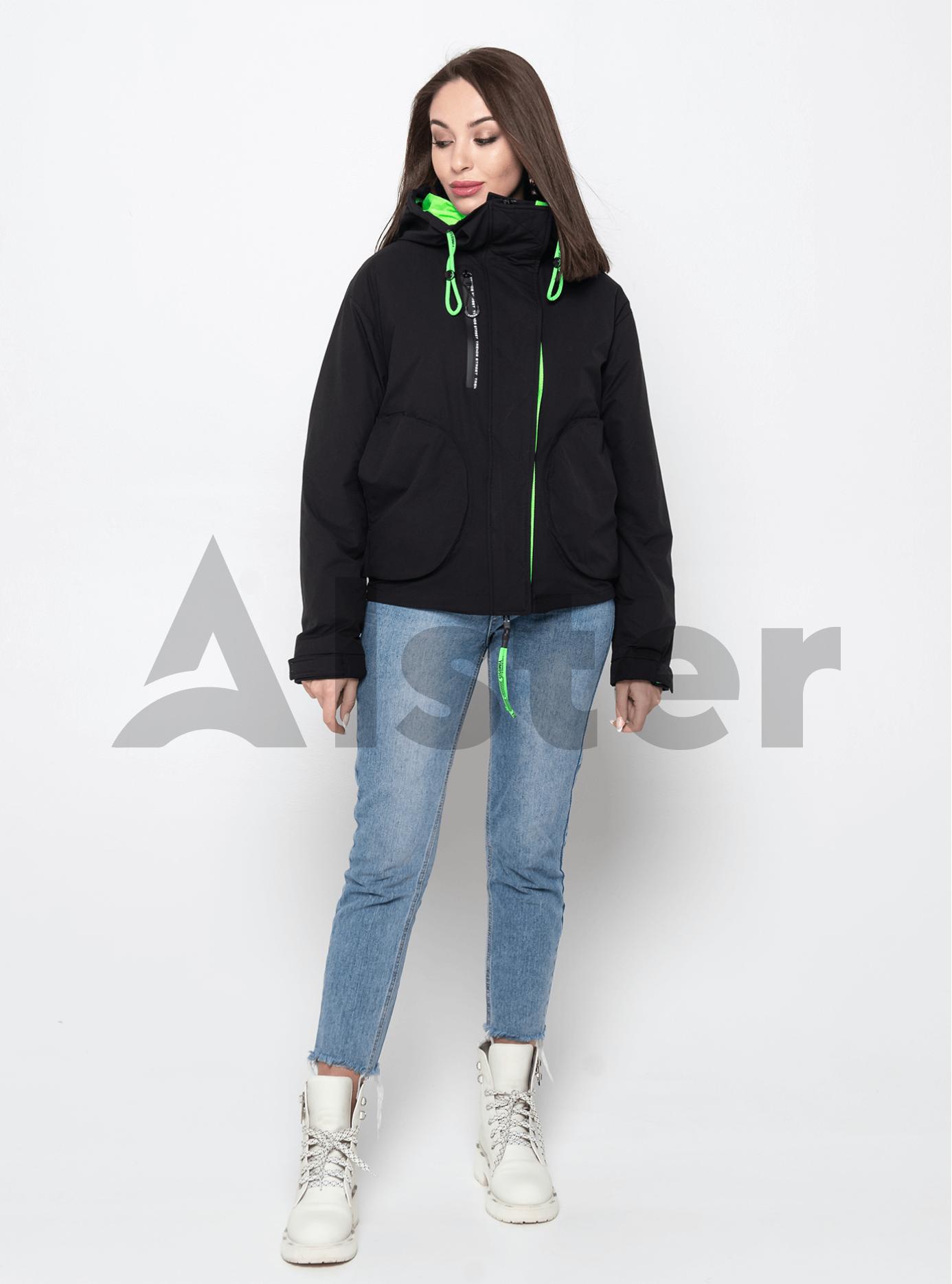 Куртка демисезонная с круглыми карманами Чёрный M (02-Y191066): фото - Alster.ua