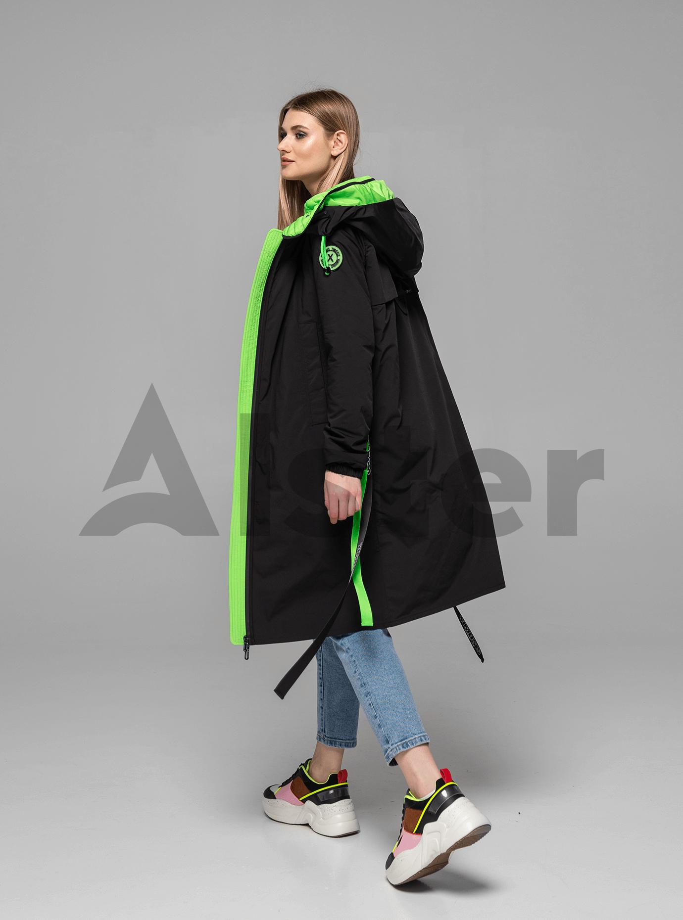 Куртка демисезонная длинная Чёрный L (02-Y191073): фото - Alster.ua