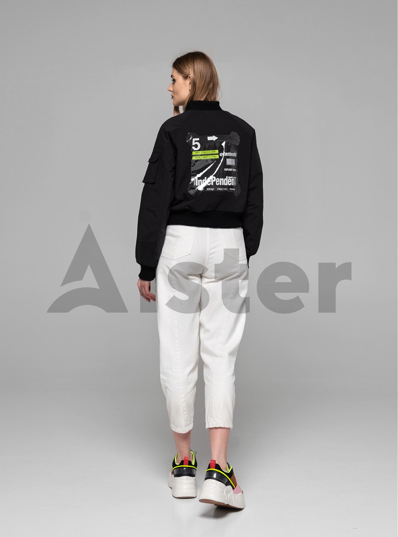 Куртка демисезонная с манжетами Чёрный L (02-Y191079): фото - Alster.ua