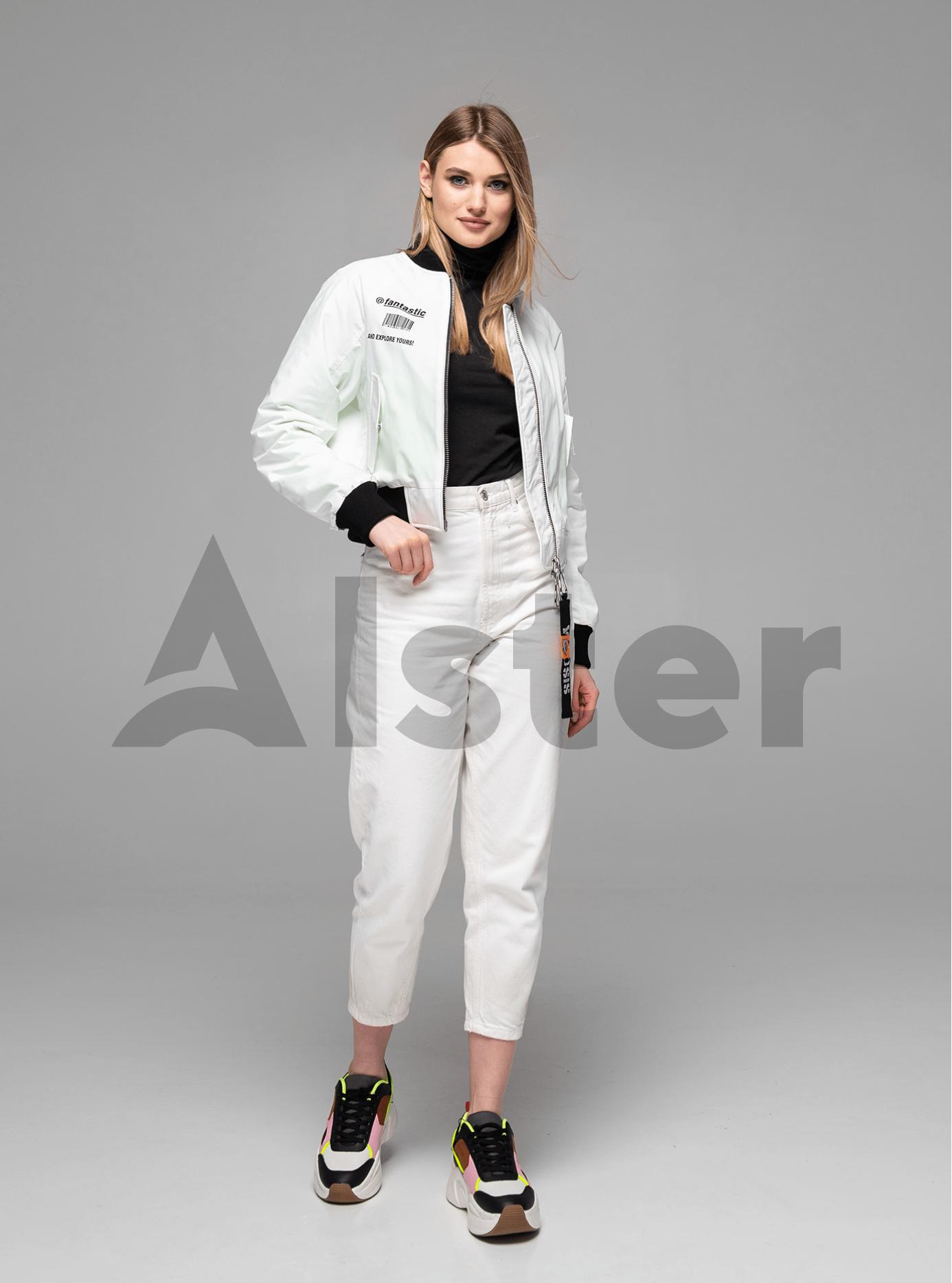 Куртка демисезонная с манжетами Белый M (02-Y191075): фото - Alster.ua