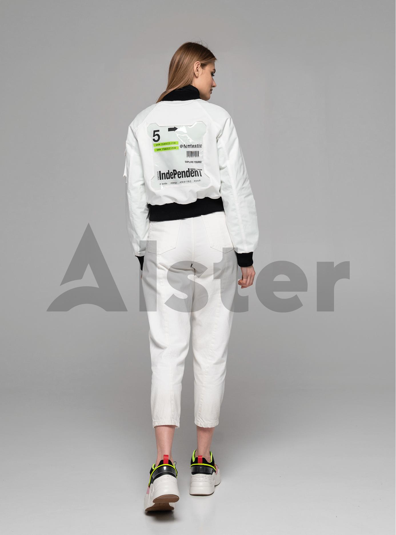 Куртка демисезонная с манжетами Белый S (02-Y191074): фото - Alster.ua