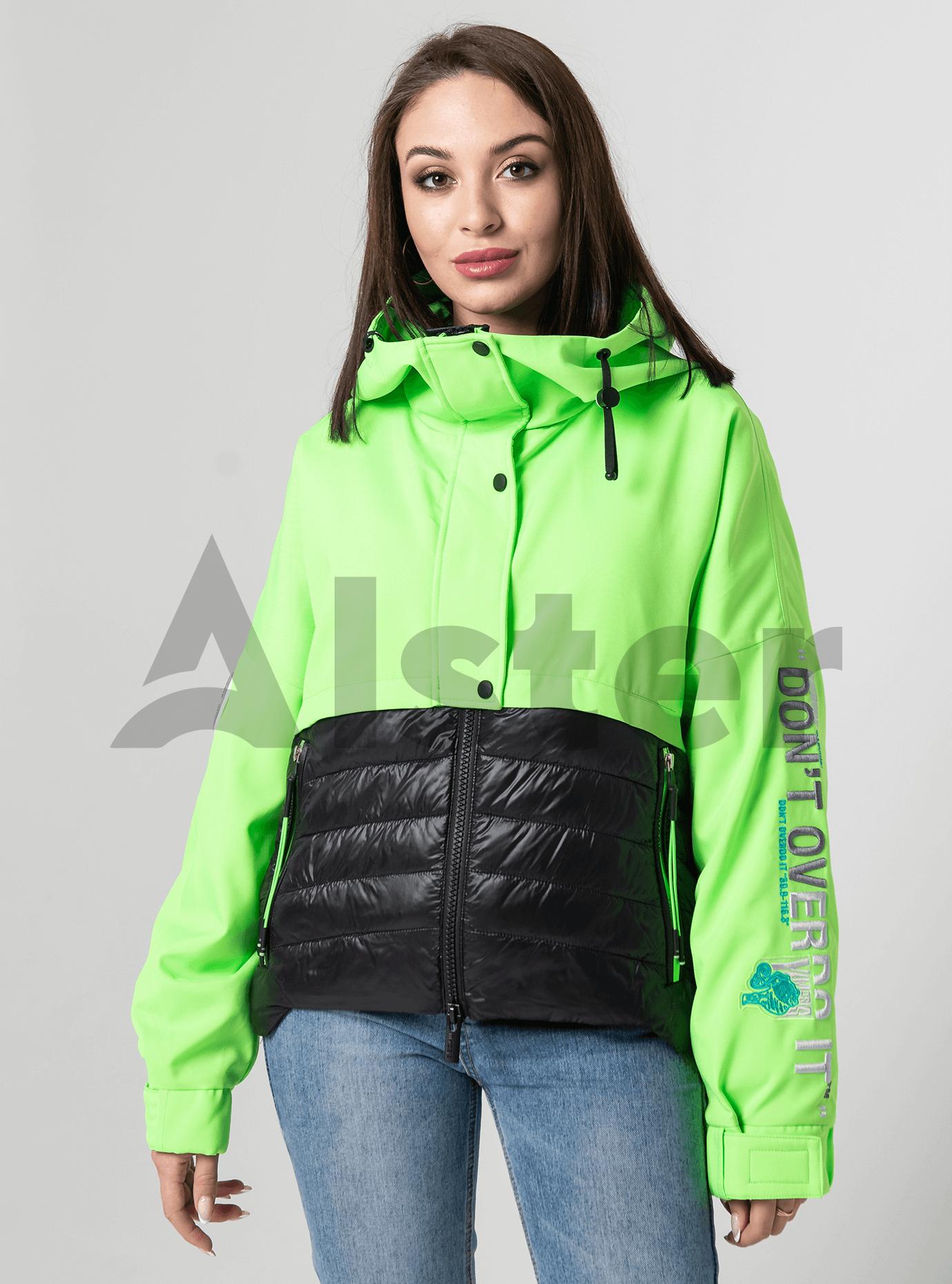 Куртка демисезонная со вставкой Зелёный S (02-Y191083): фото - Alster.ua