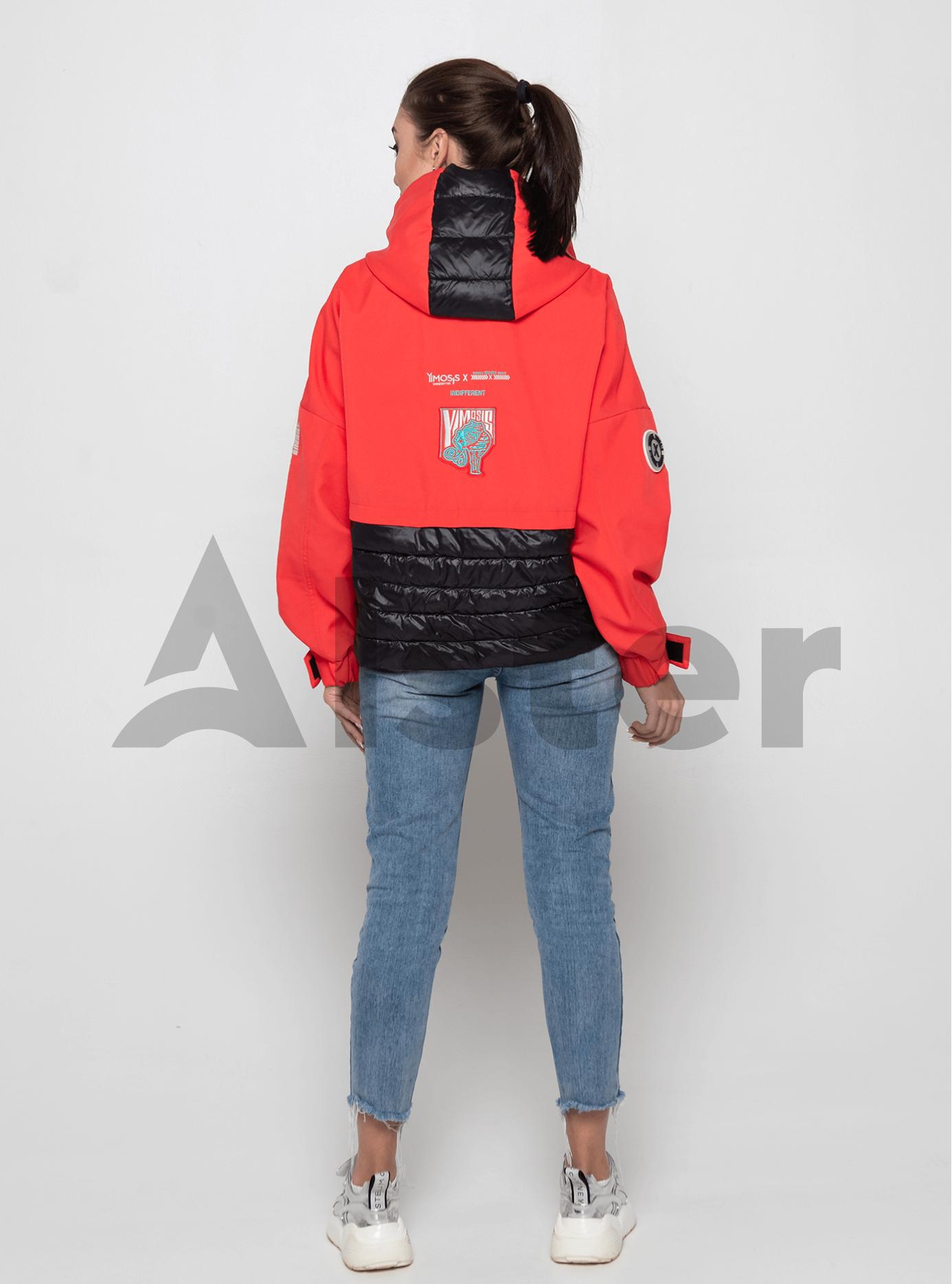 Куртка демисезонная со вставкой Красный L (02-Y191082): фото - Alster.ua