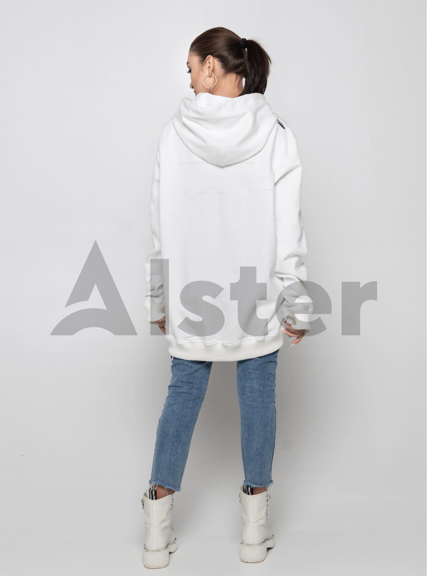 Толстовка женская средней длины Белый M (02-Y191092): фото - Alster.ua