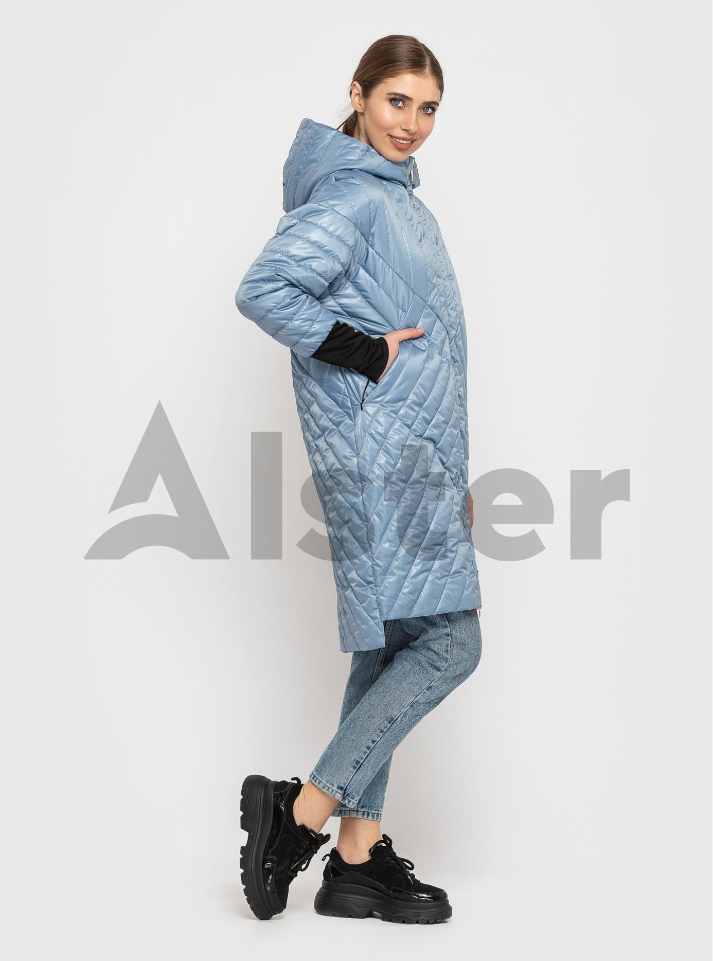Куртка жіноча демісезонна подовжена Світло-блакитний XL (02-KT19002123): фото - Alster.ua