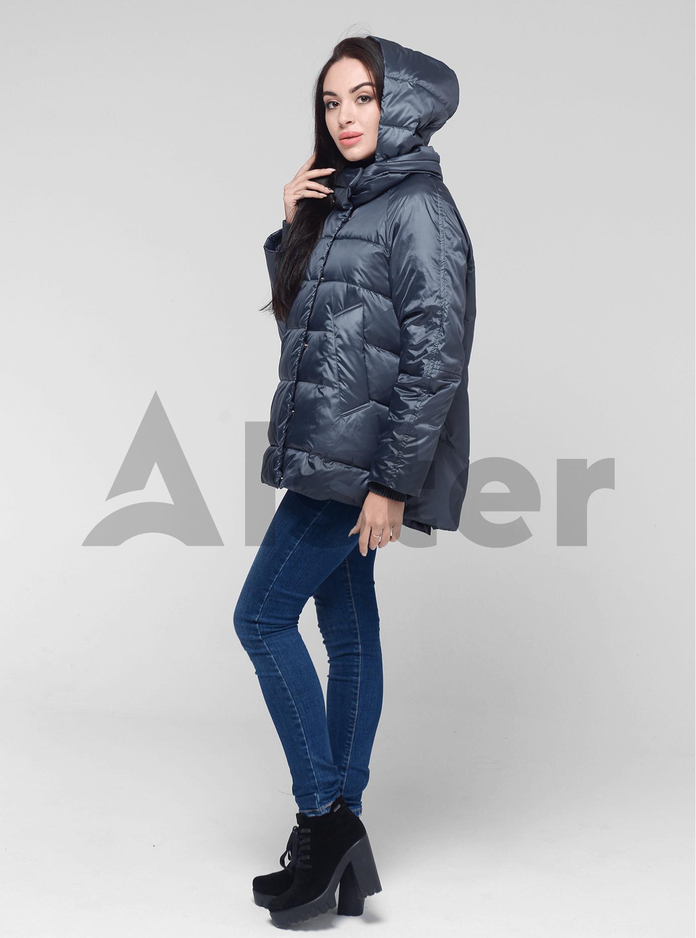 Куртка демисезонная короткая Серо-синий 44 (02-BF19074): фото - Alster.ua
