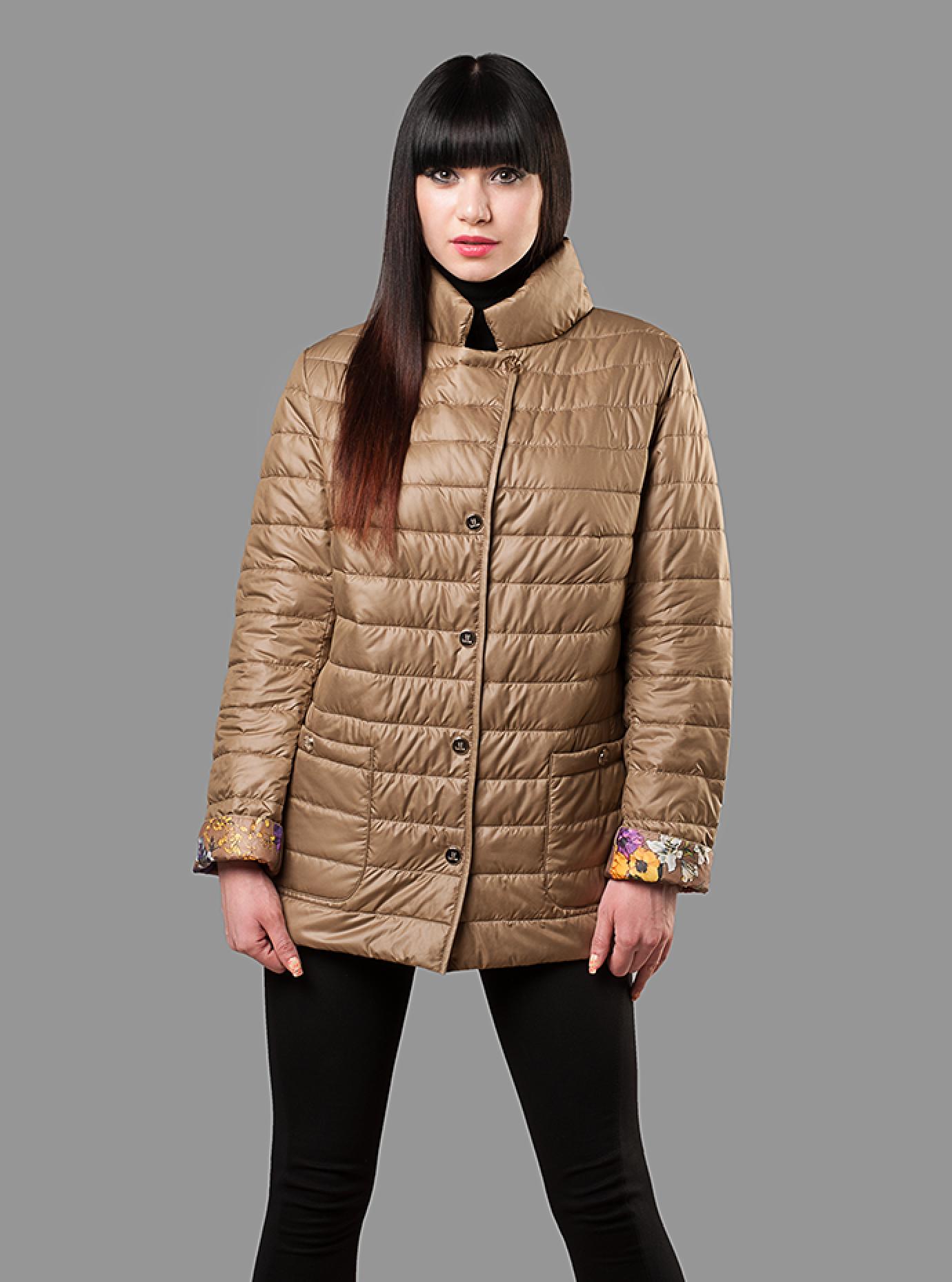 Куртка женская демисезонная на пуговицах Чёрный S (02-CD18083): фото - Alster.ua