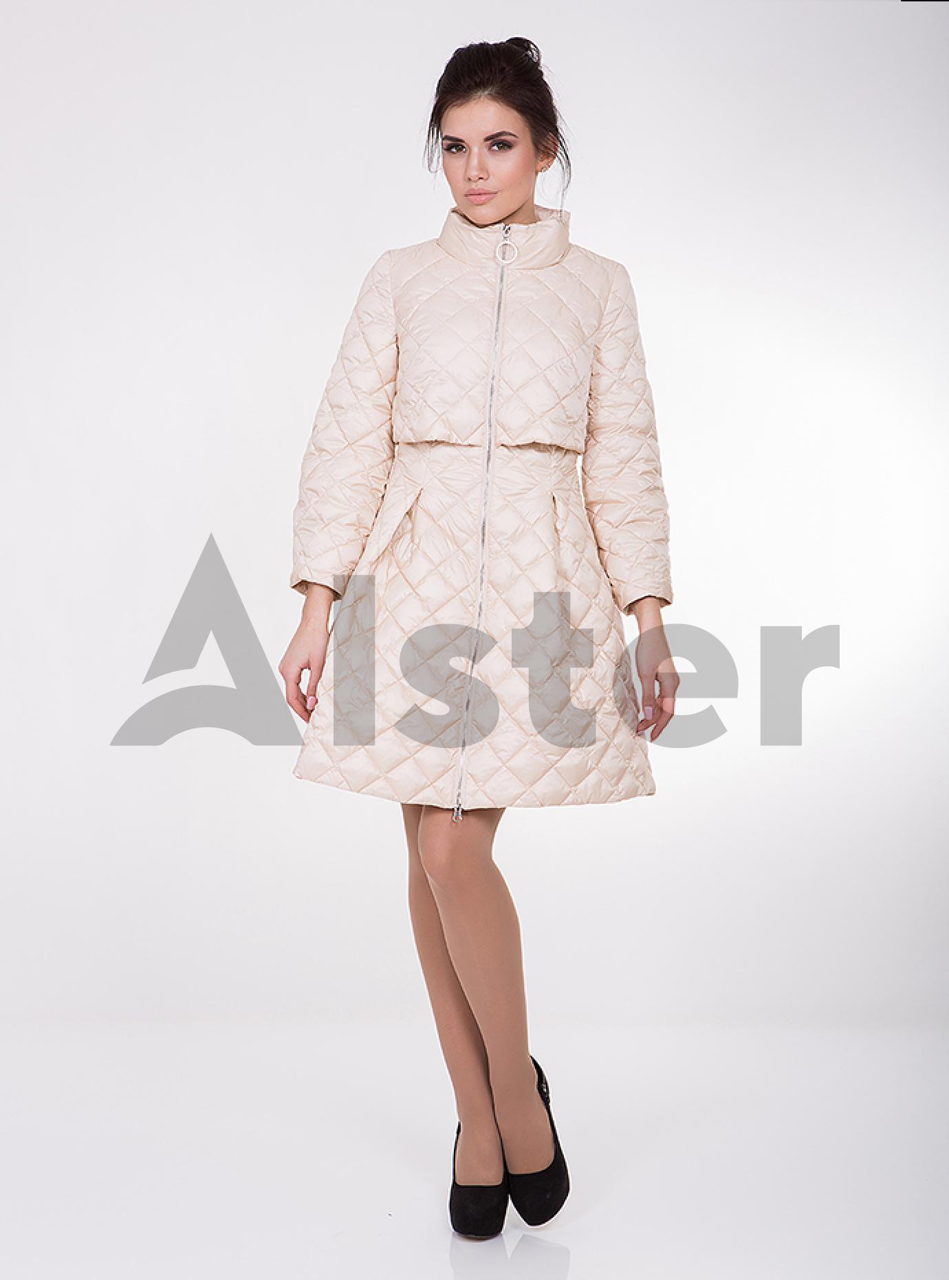 Куртка женская демисезонная на молнии Молочный XS (02-CD18102): фото - Alster.ua