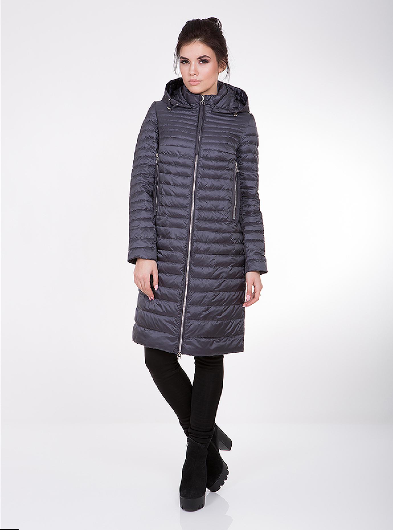 Куртка женская демисезонная с карманами на молнии Чёрный S (02-CD18154): фото - Alster.ua