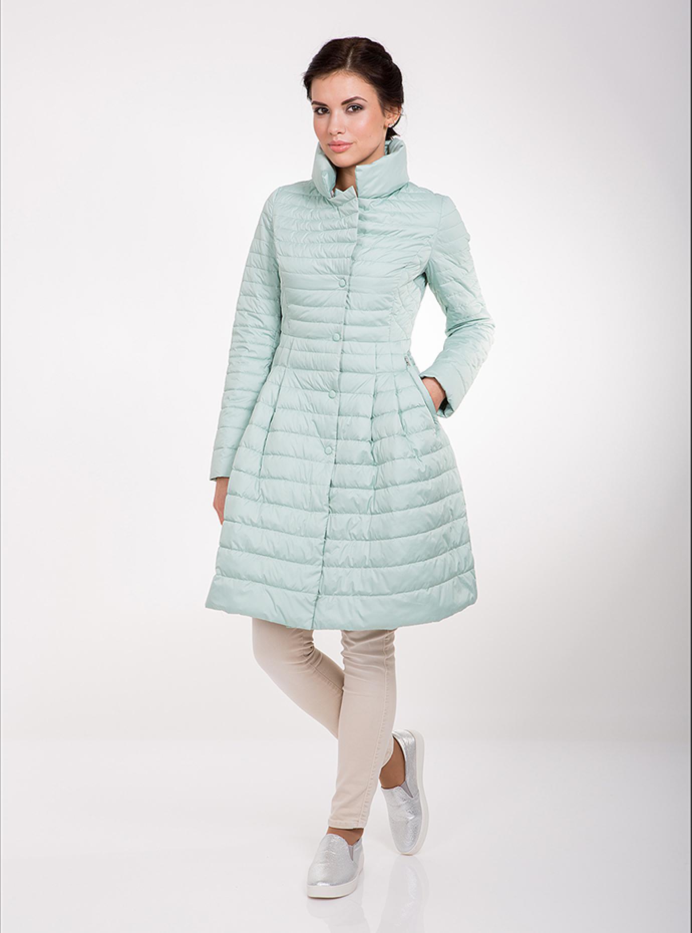 Куртка женская демисезонная на пуговицах Мятный XS (02-CD18114): фото - Alster.ua
