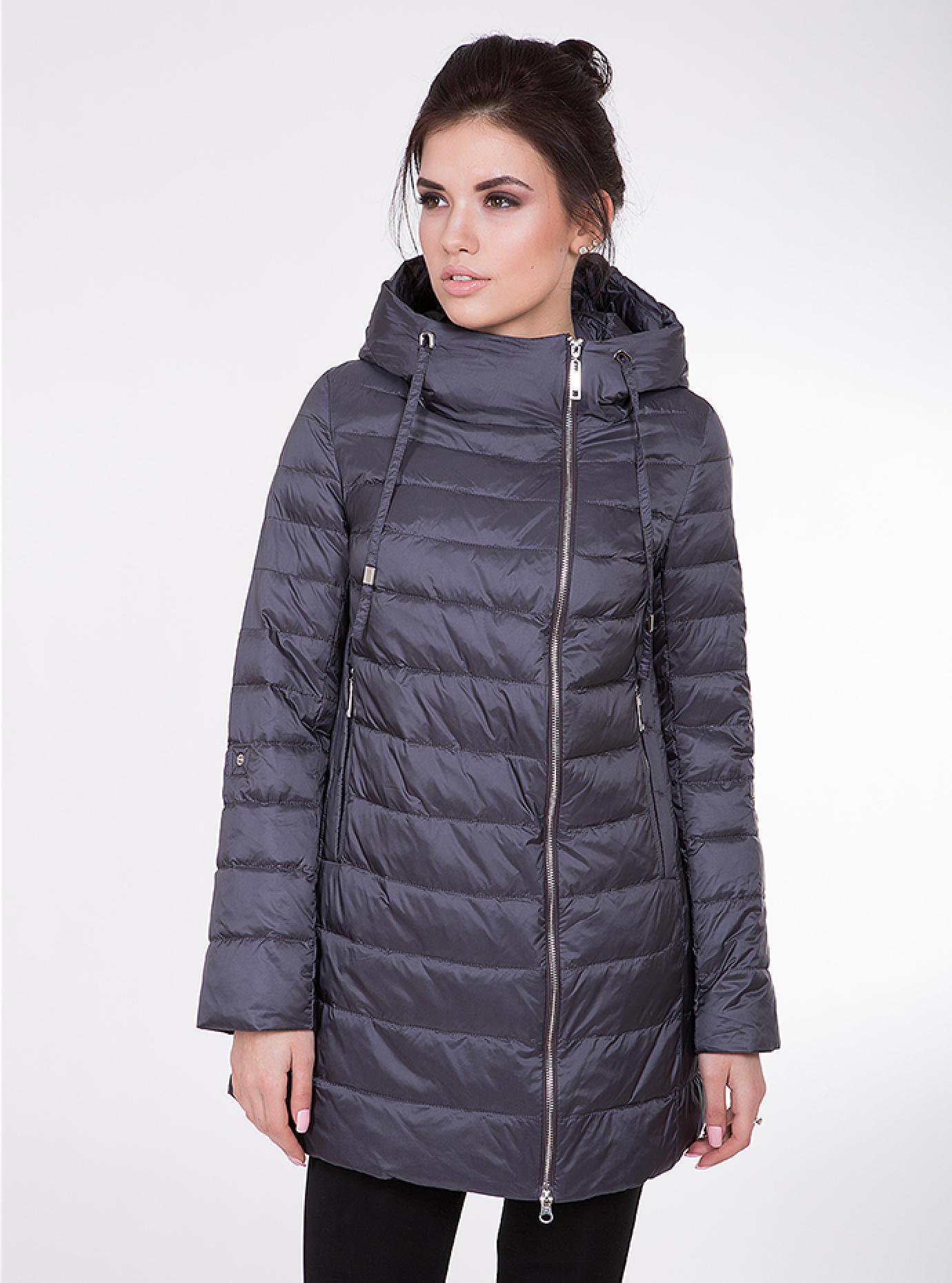 Куртка женская демисезонная с капюшоном Чёрный S (02-CD18153): фото - Alster.ua