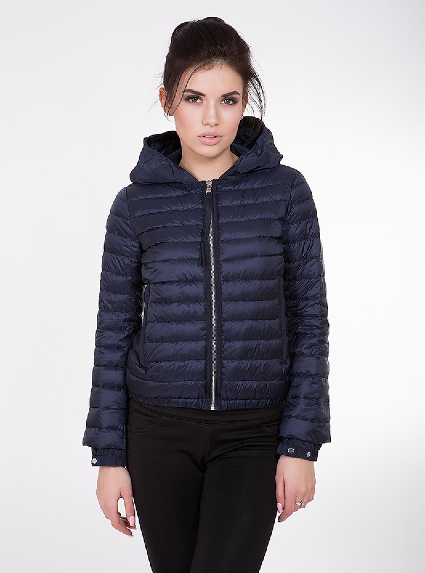 Куртка женская демисезонная короткая Чёрный S (02-CD18155): фото - Alster.ua