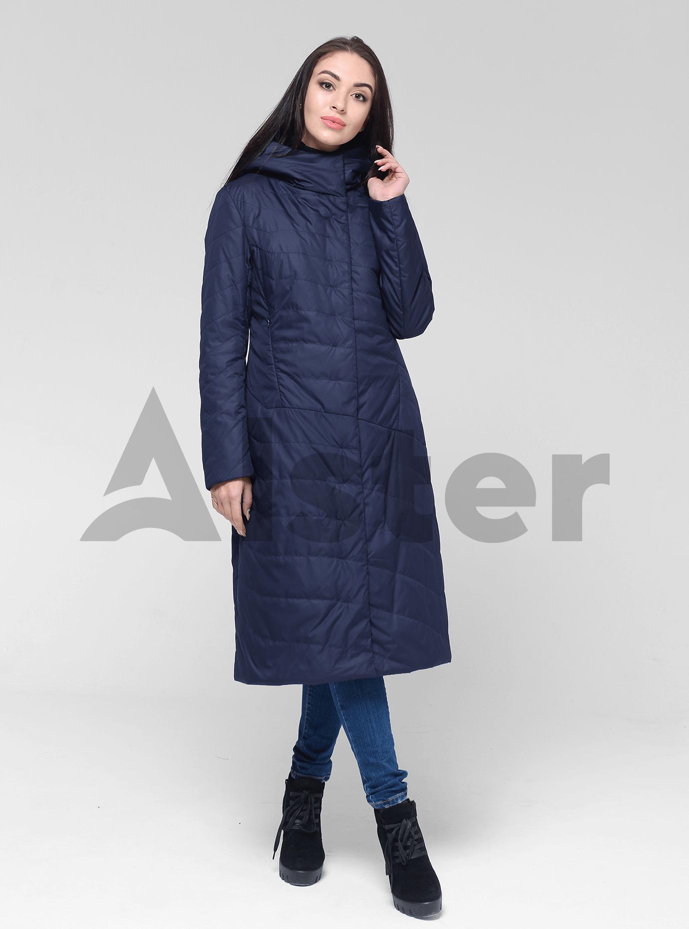Куртка демисезонная женская с капюшоном Тёмно-синий 2XL (02-D190159): фото - Alster.ua
