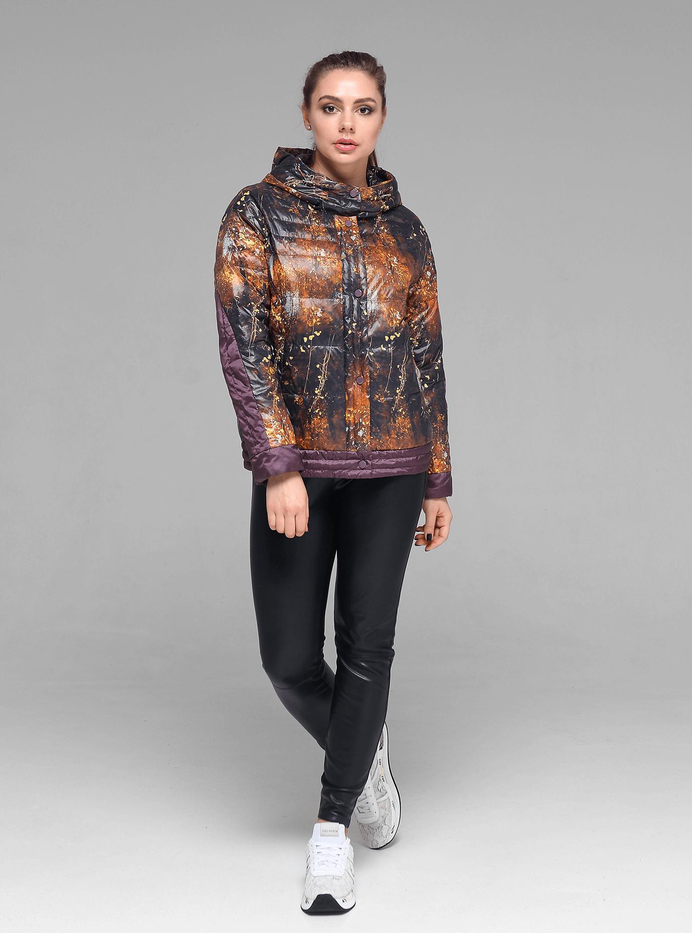 Куртка демисезонная женская Сливовый M (02-D190125): фото - Alster.ua