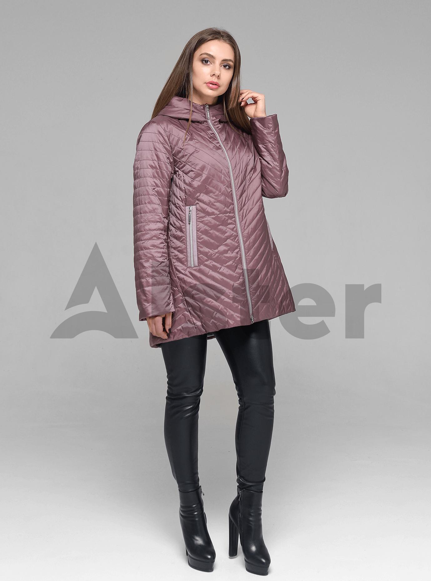 Куртка демисезонная женская с капюшоном Розовый 56 (02-D190145): фото - Alster.ua